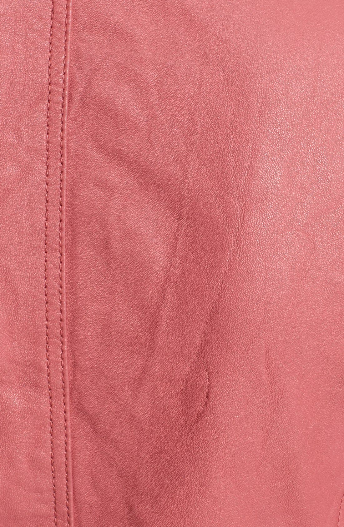 REBECCA TAYLOR,                             Washed Leather Moto Jacket,                             Alternate thumbnail 3, color,                             651