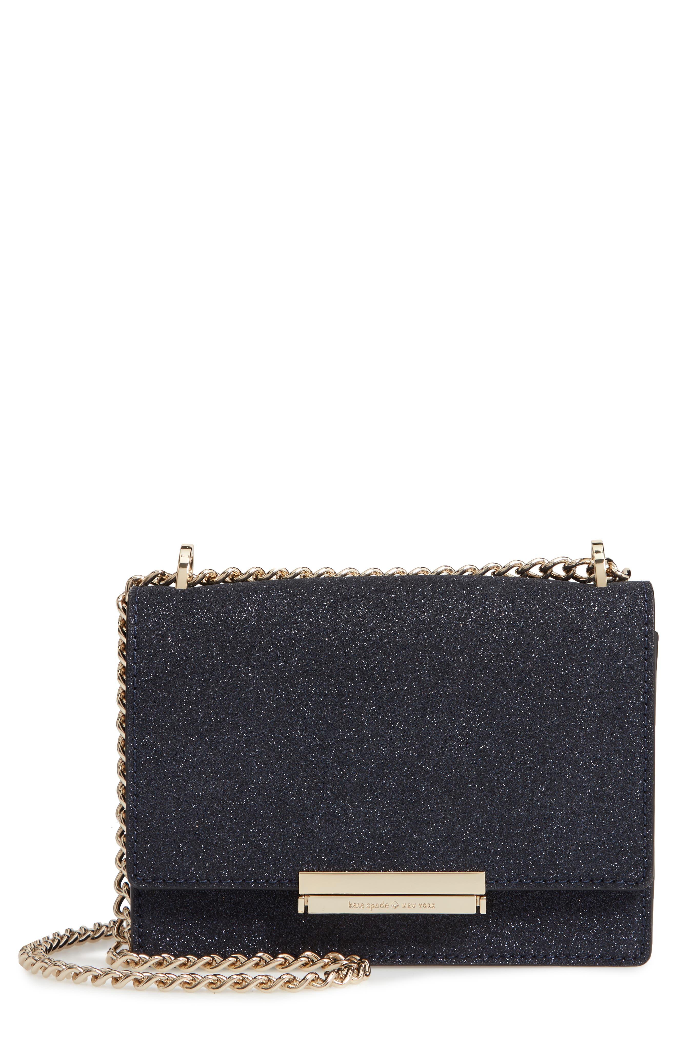 burgess court - hazel glitter crossbody bag, Main, color, 400