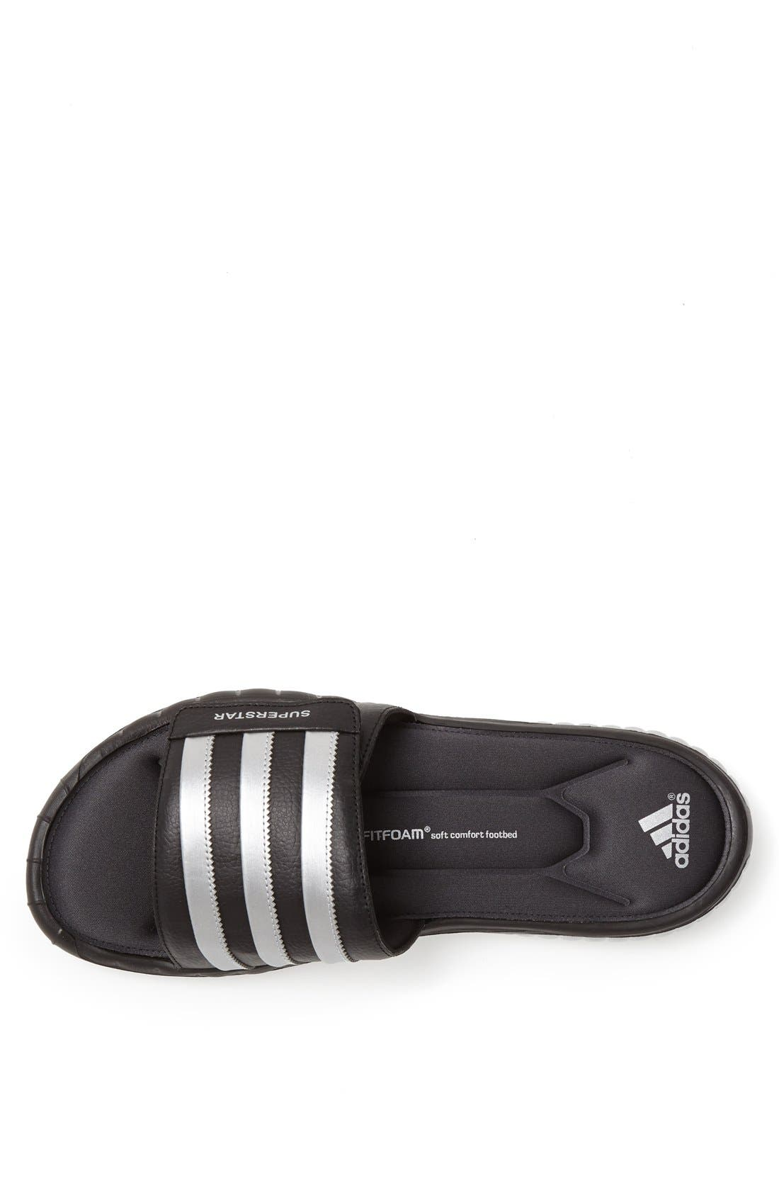 Superstar 3G Slide Sandal,                             Alternate thumbnail 3, color,                             001
