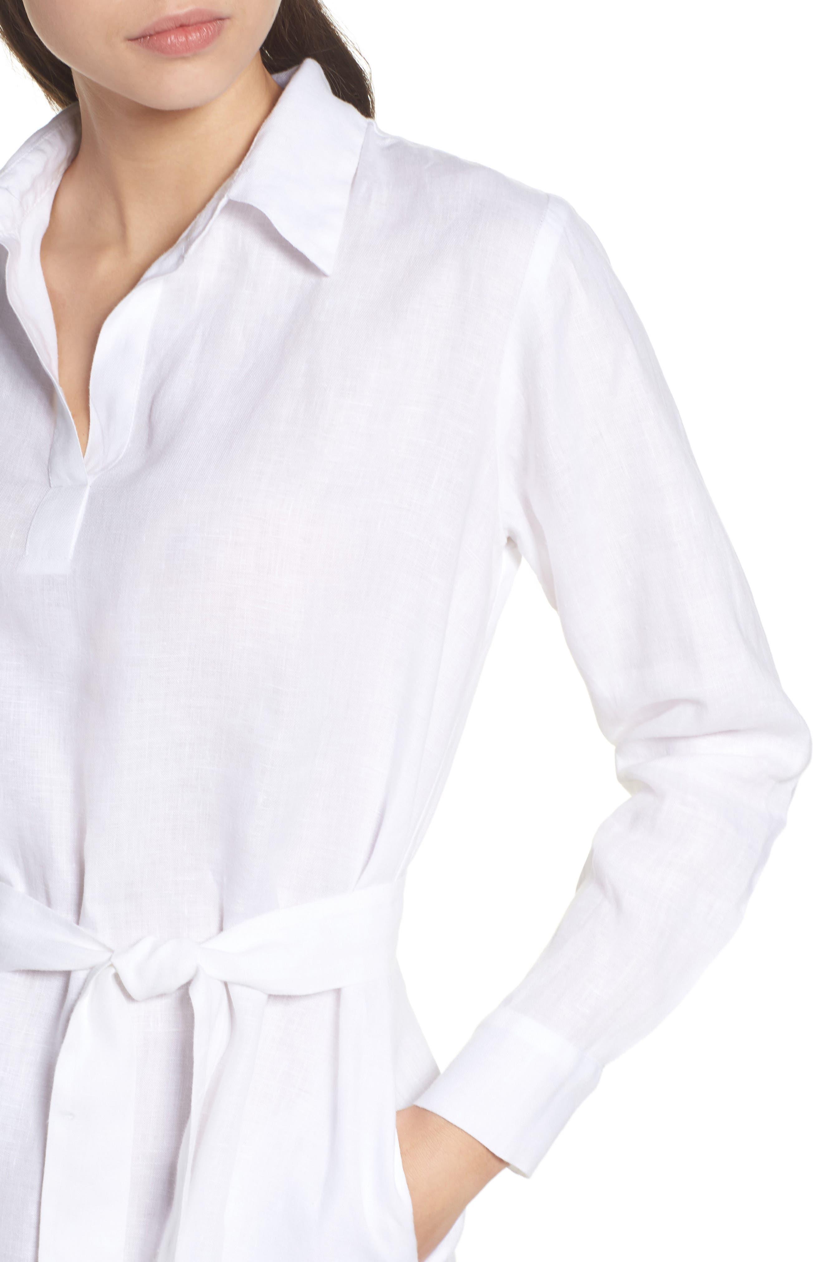 Linen Shirtdress,                             Alternate thumbnail 8, color,
