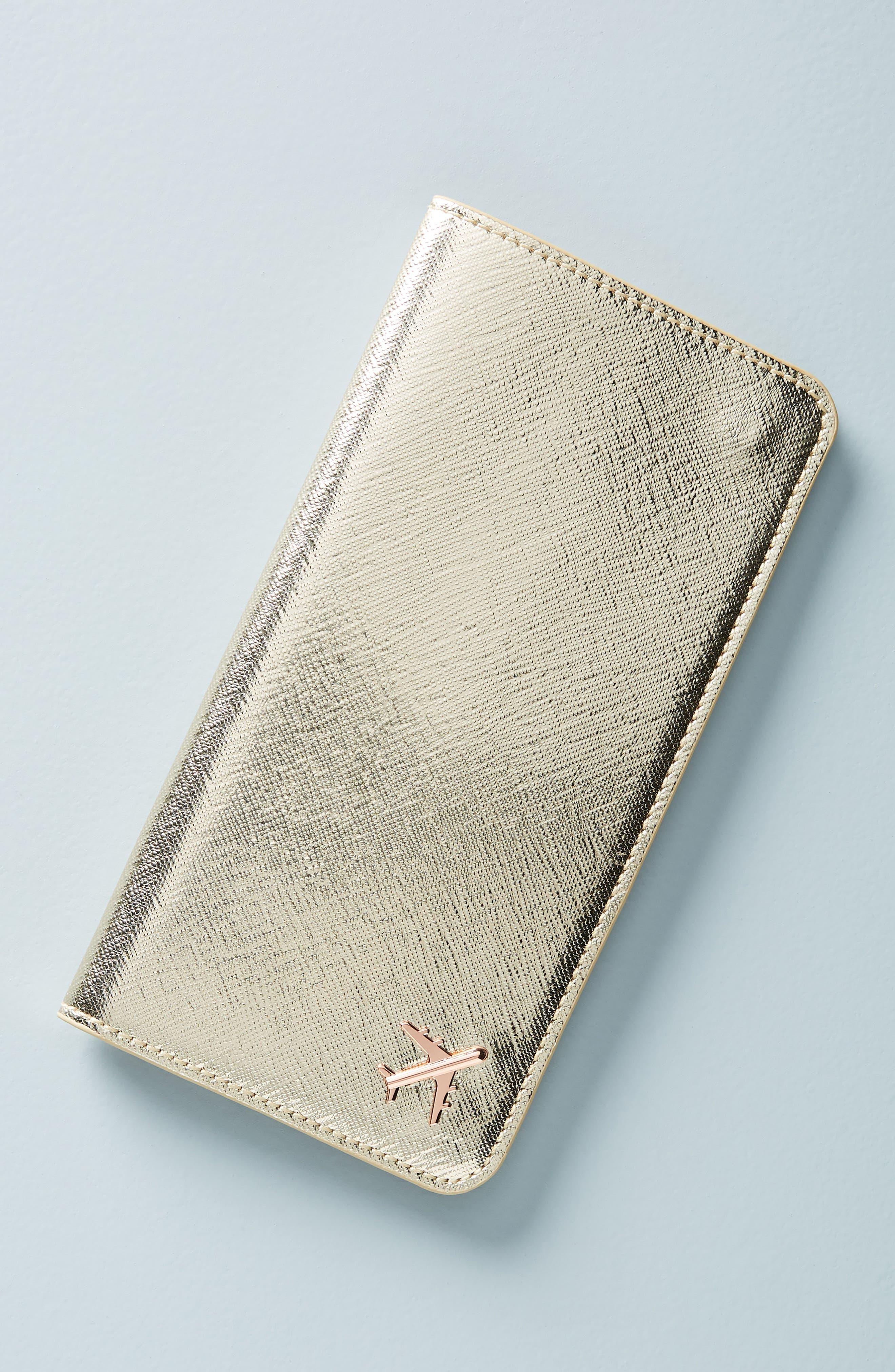 Celeste Travel Wallet,                         Main,                         color, GOLD