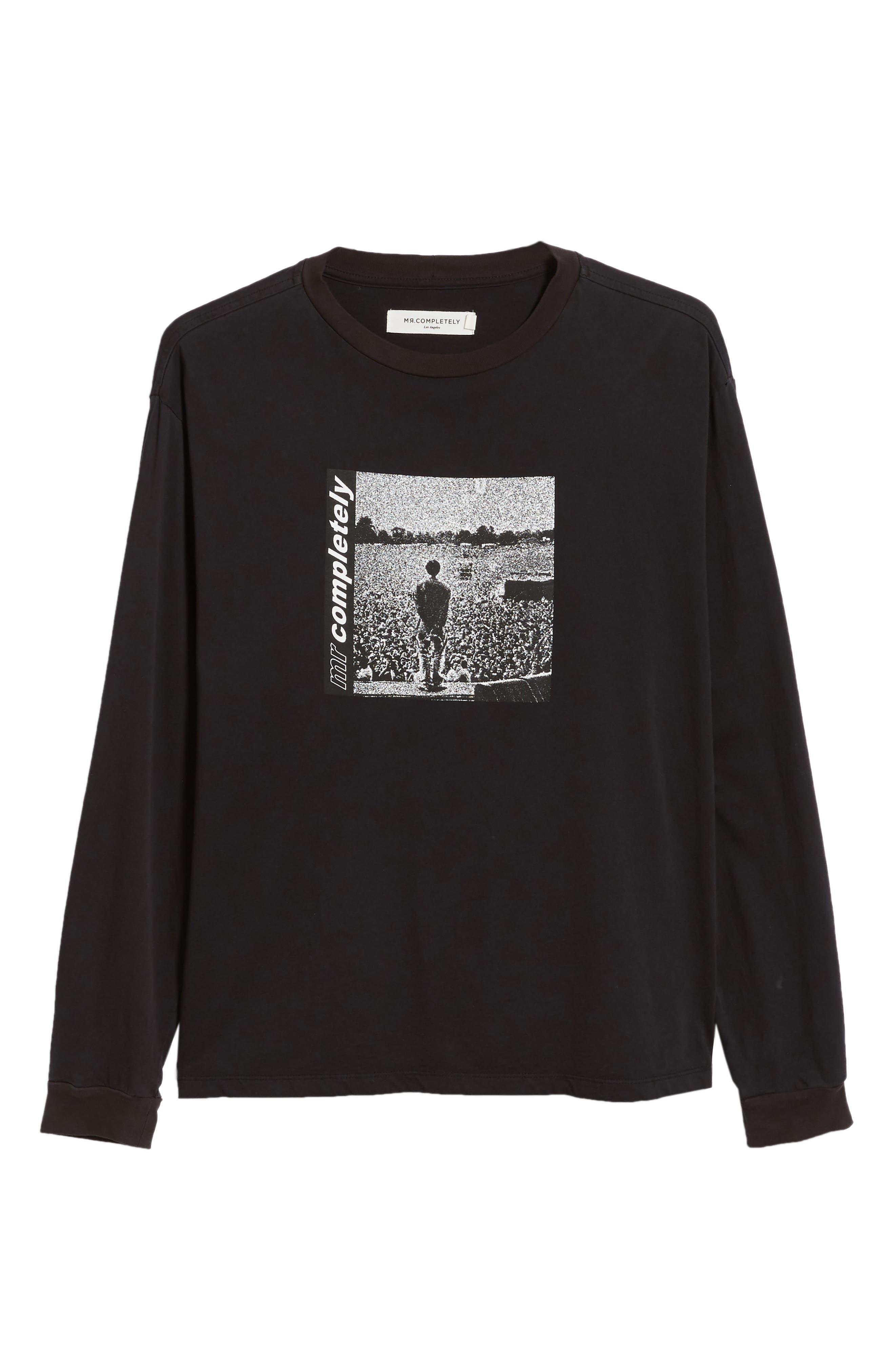 Oasis Oversize Long Sleeve T-Shirt,                             Alternate thumbnail 6, color,                             001