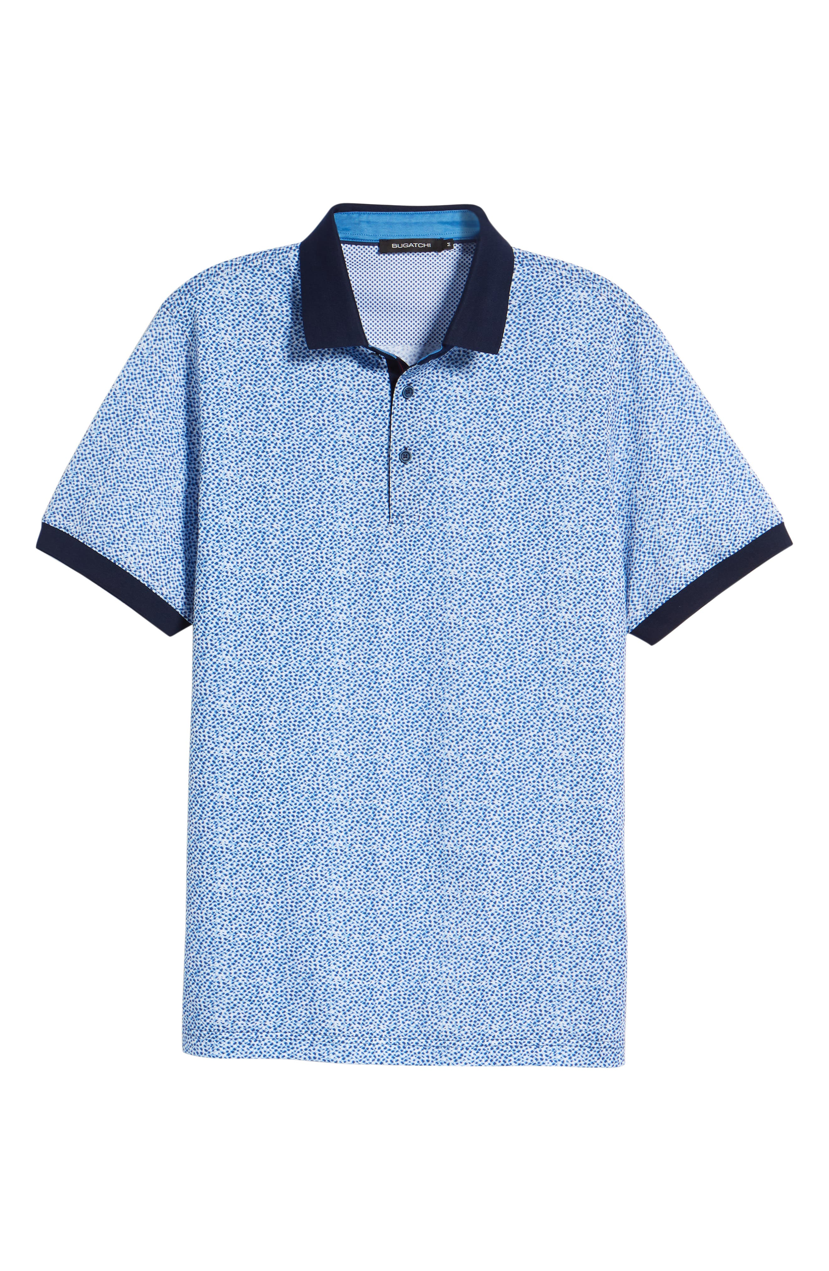 Stipple Print Piqué Polo,                             Alternate thumbnail 6, color,                             411