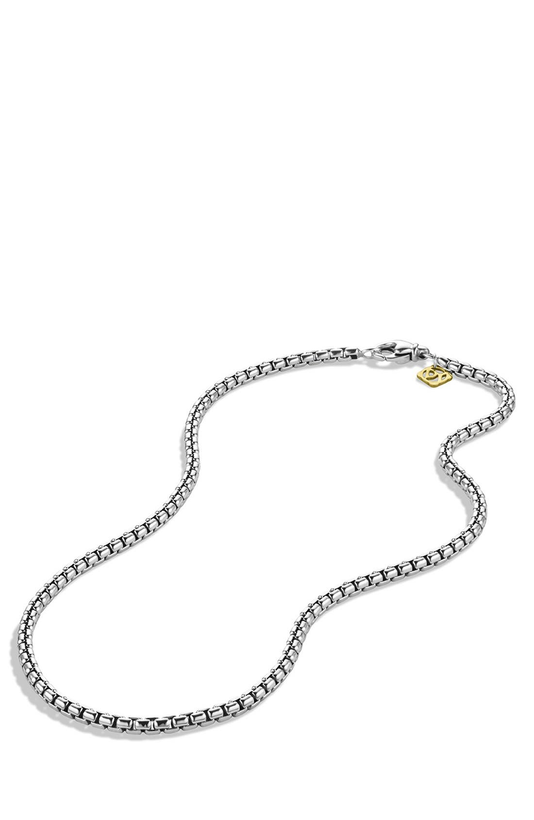 DAVID YURMAN,                             'Chain' Medium Box Chain with Gold,                             Alternate thumbnail 2, color,                             TWO TONE