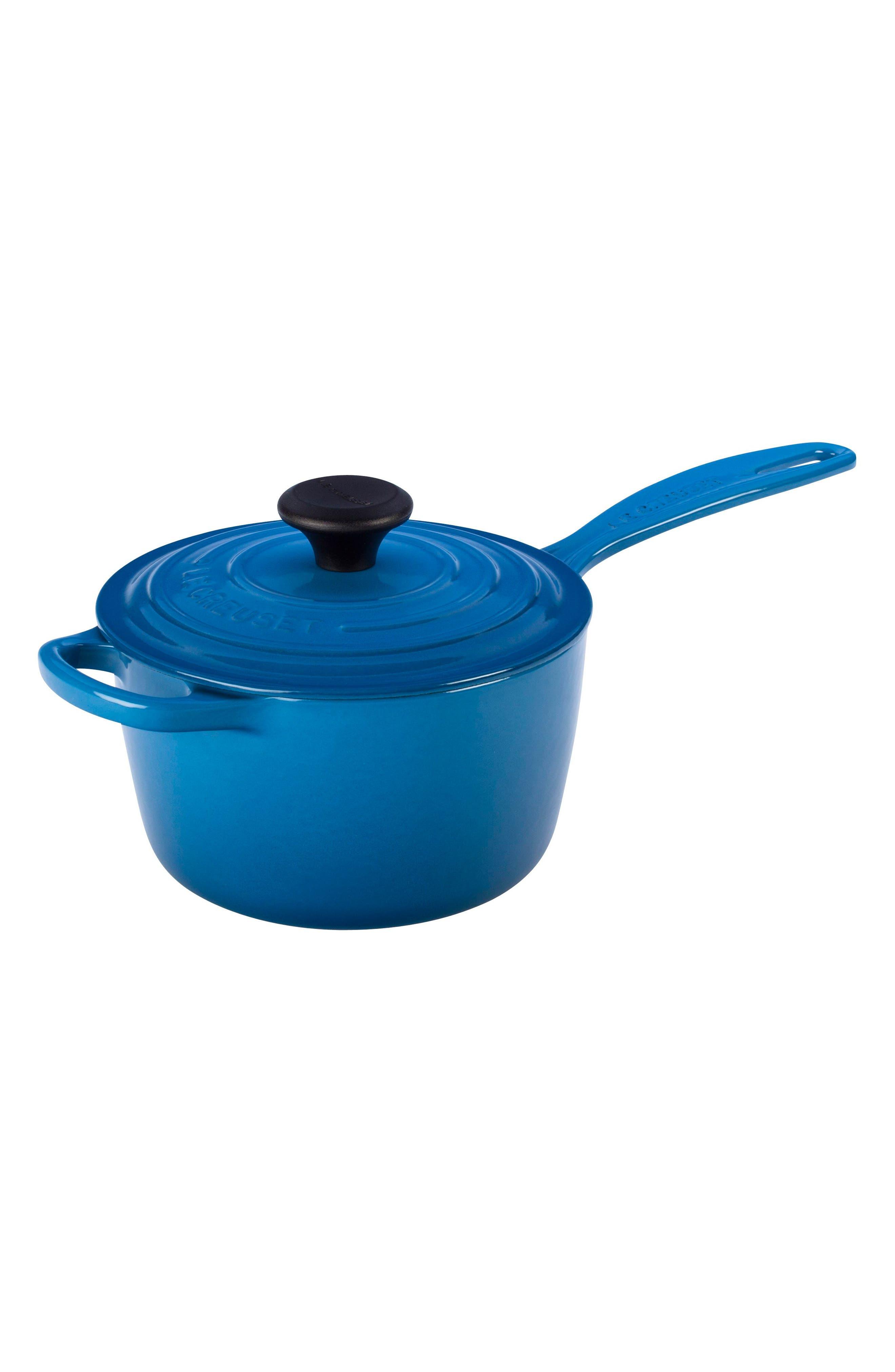 'Signature' 1 3/4 Quart Cast Iron Saucepan,                         Main,                         color, MARSEILLE