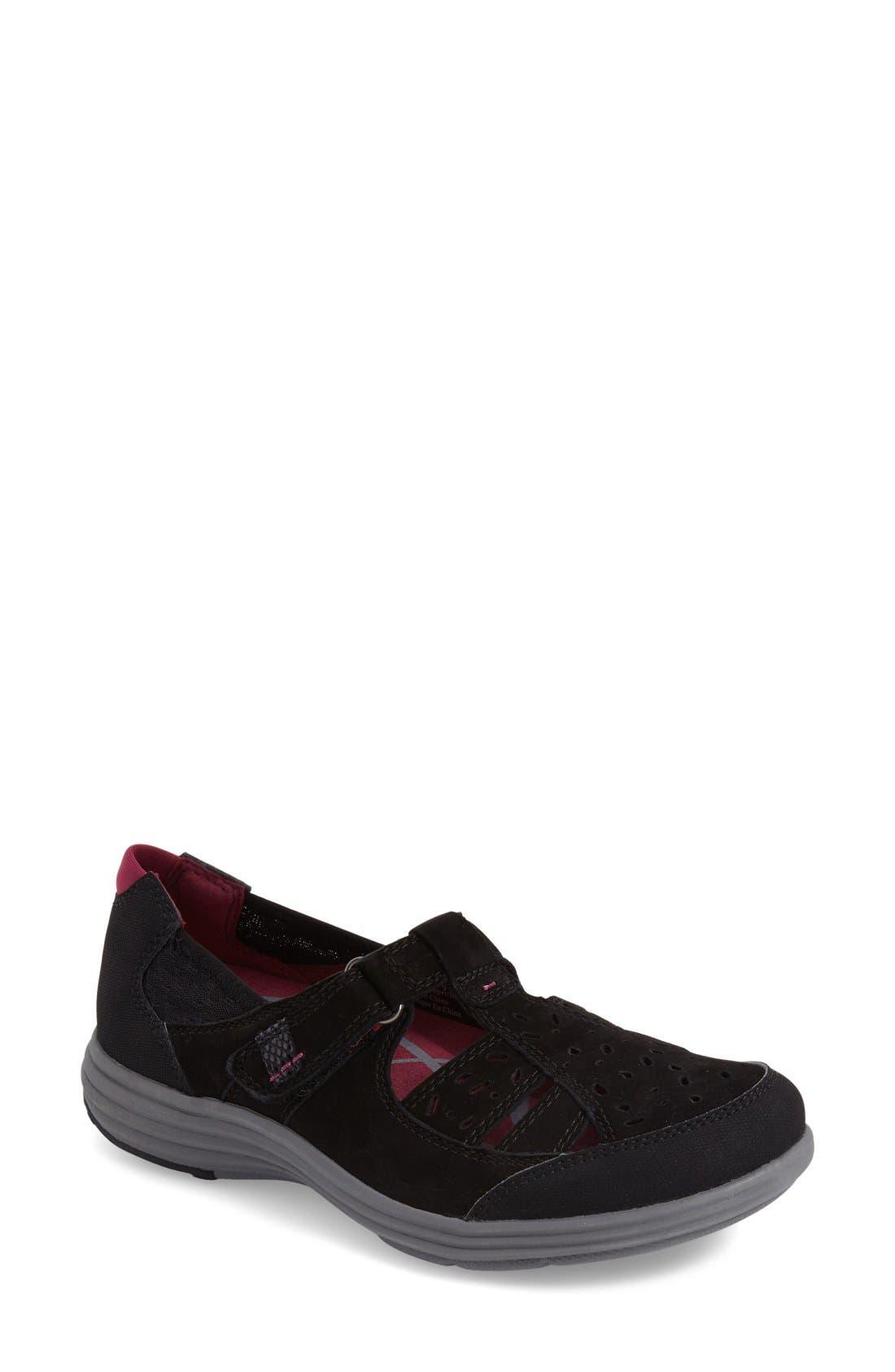 'Barbara' Sneaker,                         Main,                         color, BLACK LEATHER