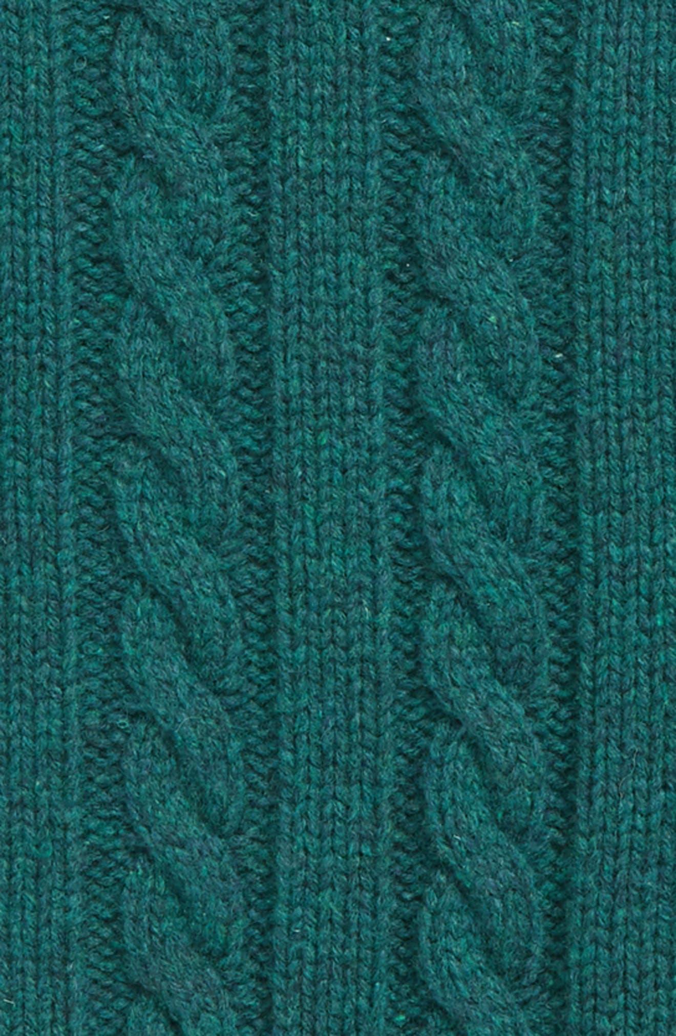 MINI BODEN,                             Chunky Knit Sweater,                             Alternate thumbnail 2, color,                             STORM GREEN