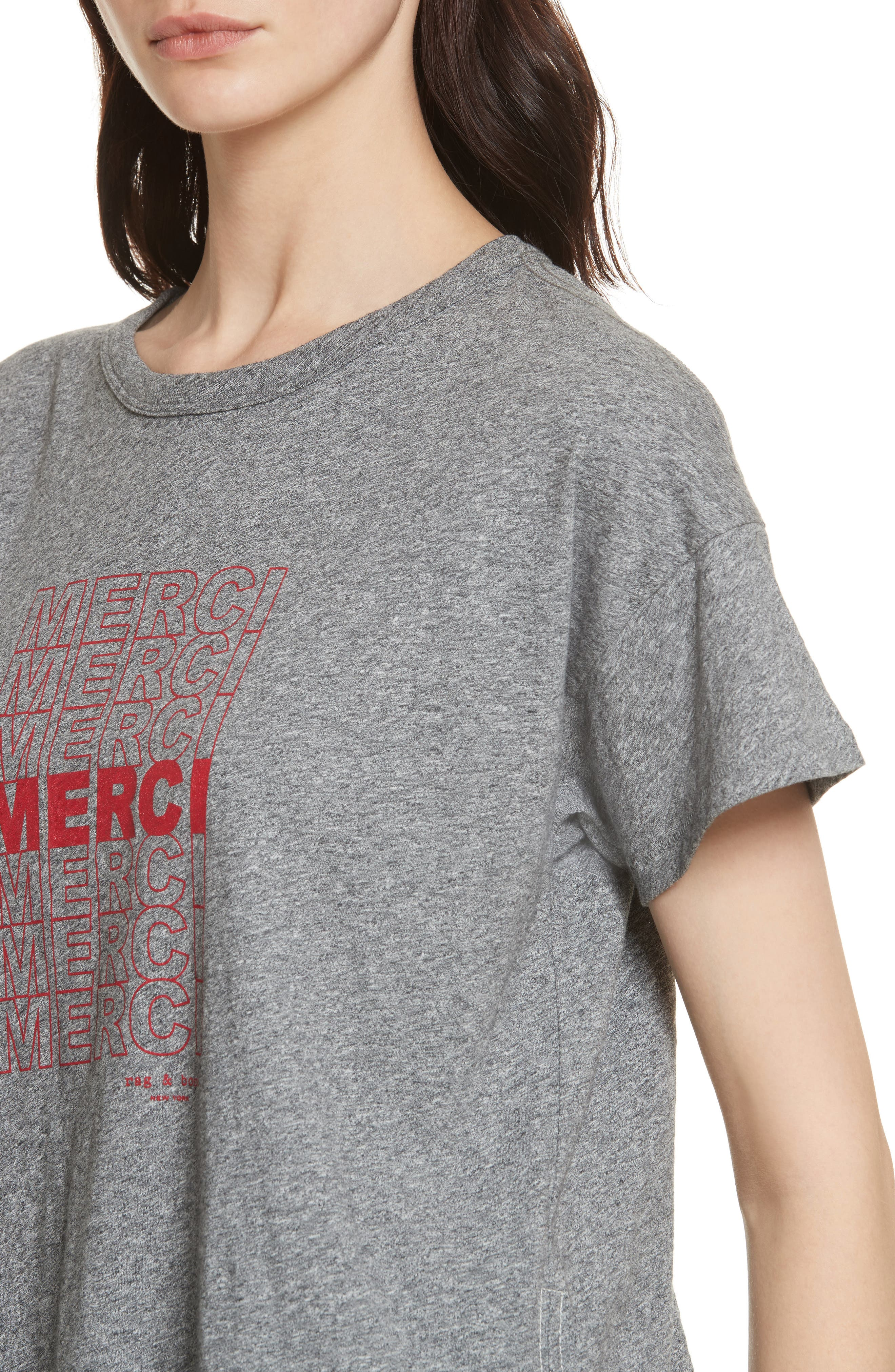 Merci Graphic Tee,                             Alternate thumbnail 3, color,