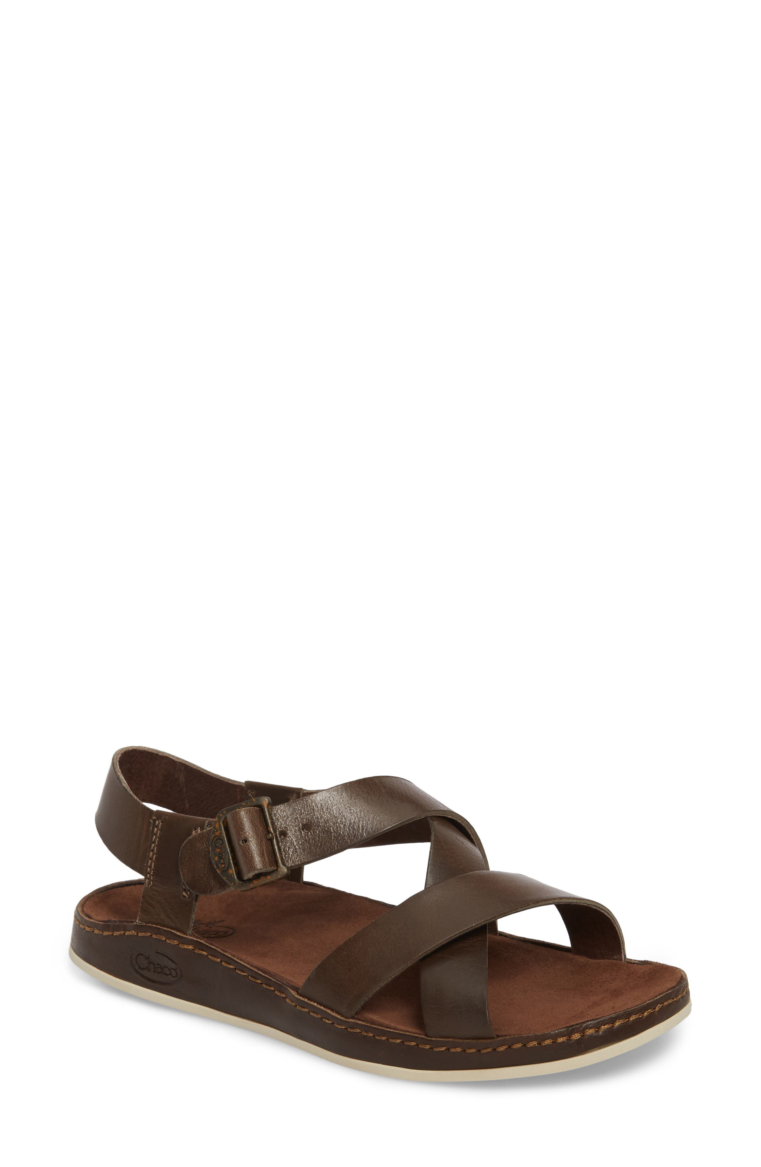 Strappy Sandal,                             Main thumbnail 1, color,                             OTTER LEATHER