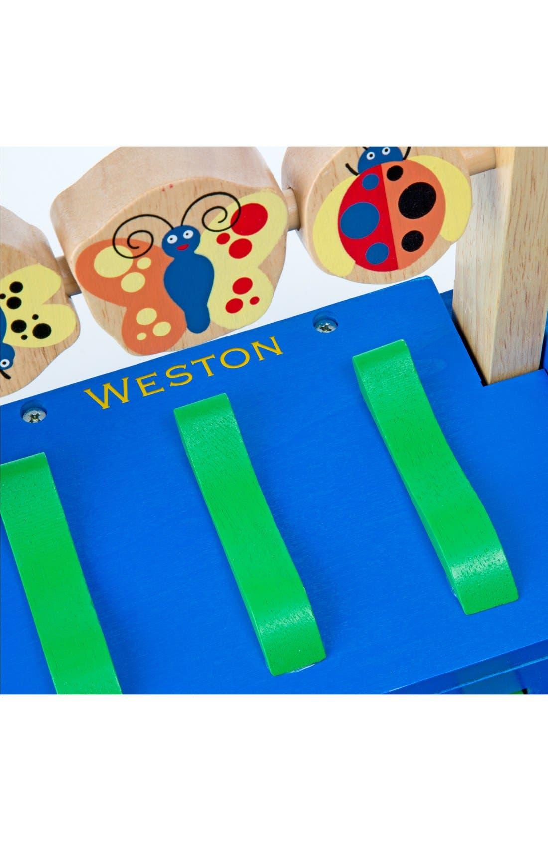 'Chomp & Clack' Personalized Alligator Push Toy,                             Alternate thumbnail 2, color,                             BLUE