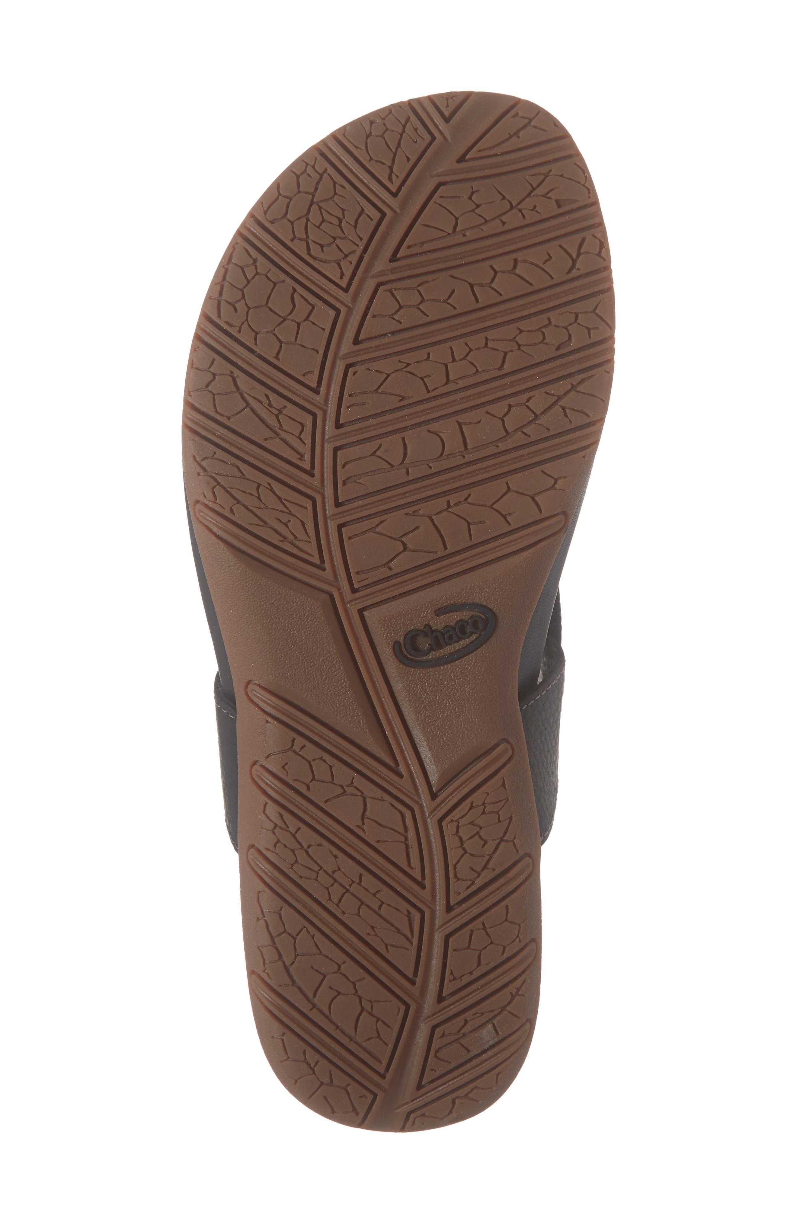 CHACO,                             Maya II Sandal,                             Alternate thumbnail 6, color,                             BLACK LEATHER