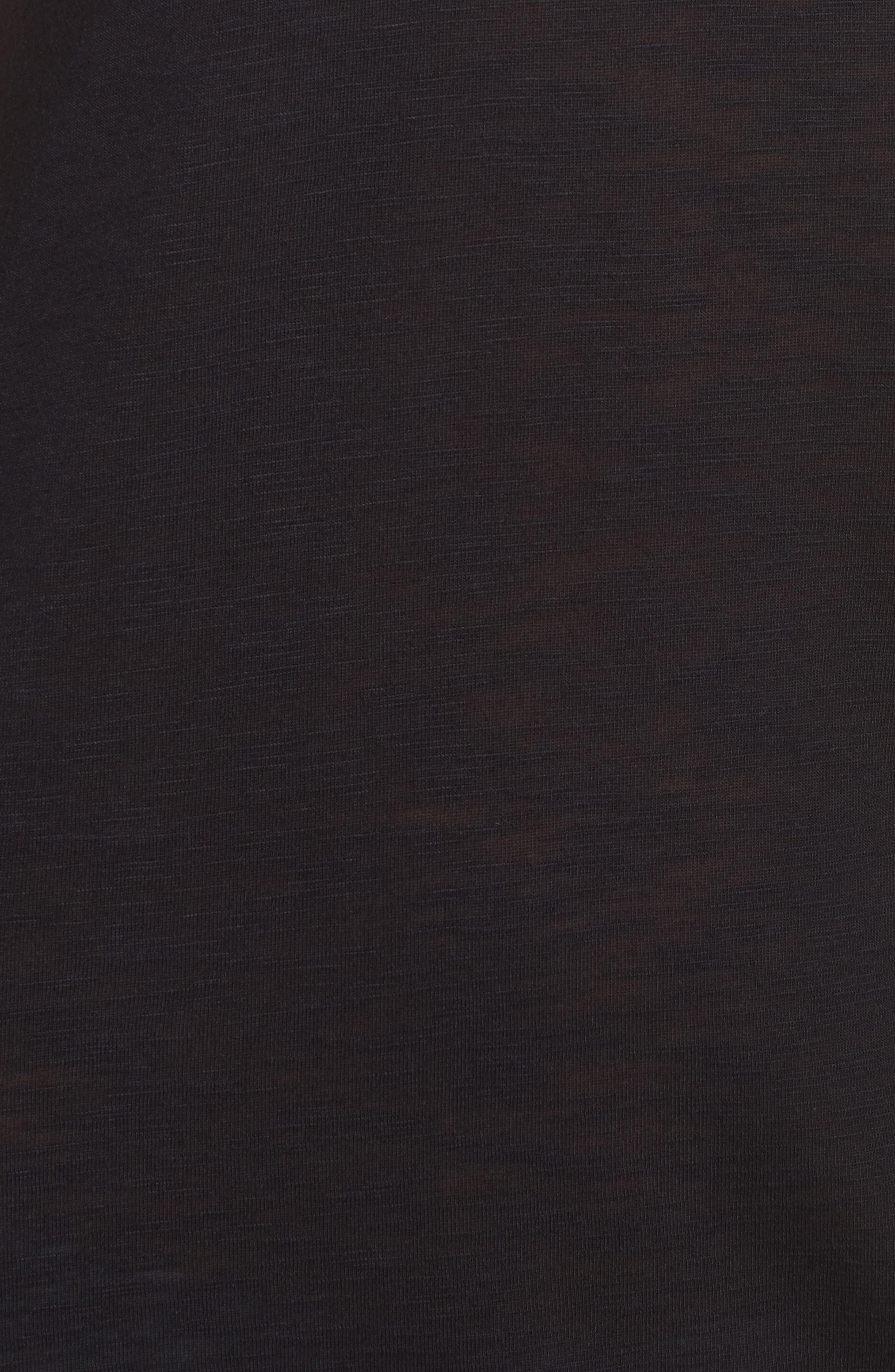 Breezy Basics Cover-Up Dress,                             Alternate thumbnail 5, color,                             BLACK