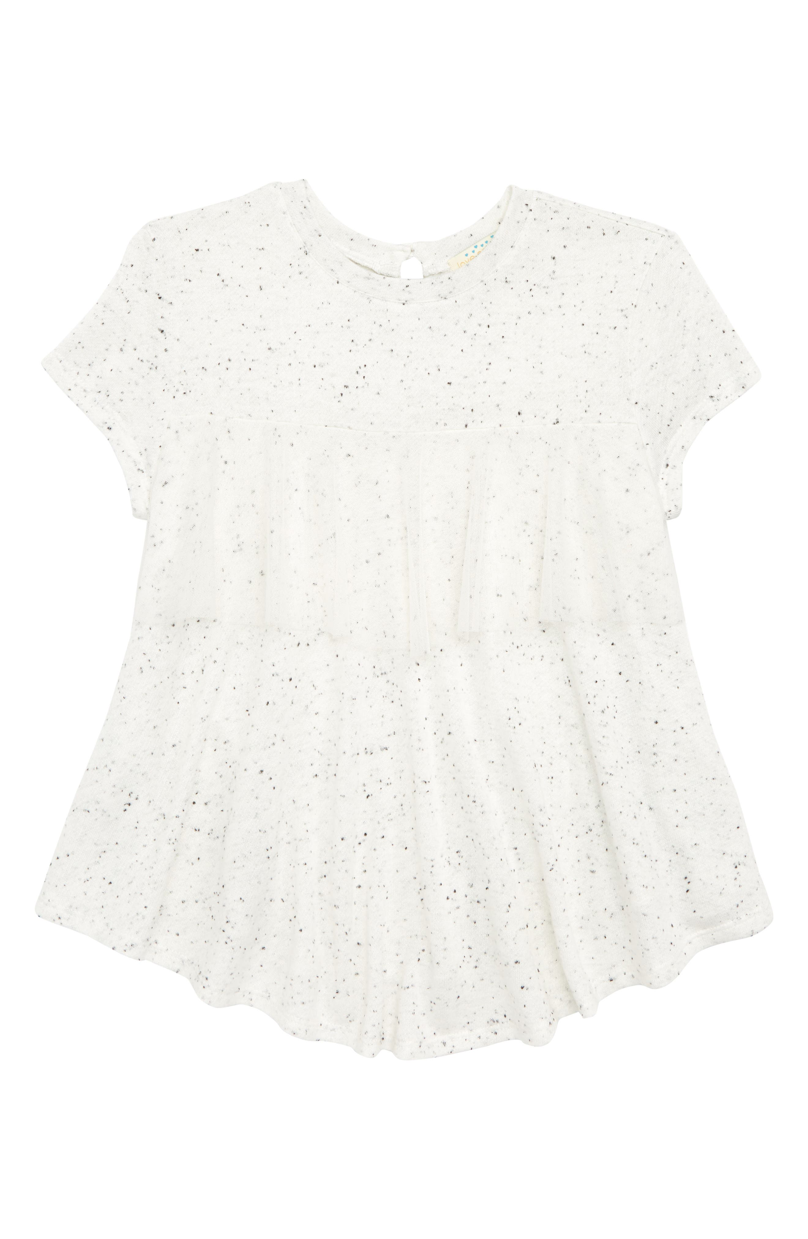 Speckled Ruffle Hem Tee,                             Main thumbnail 1, color,                             900