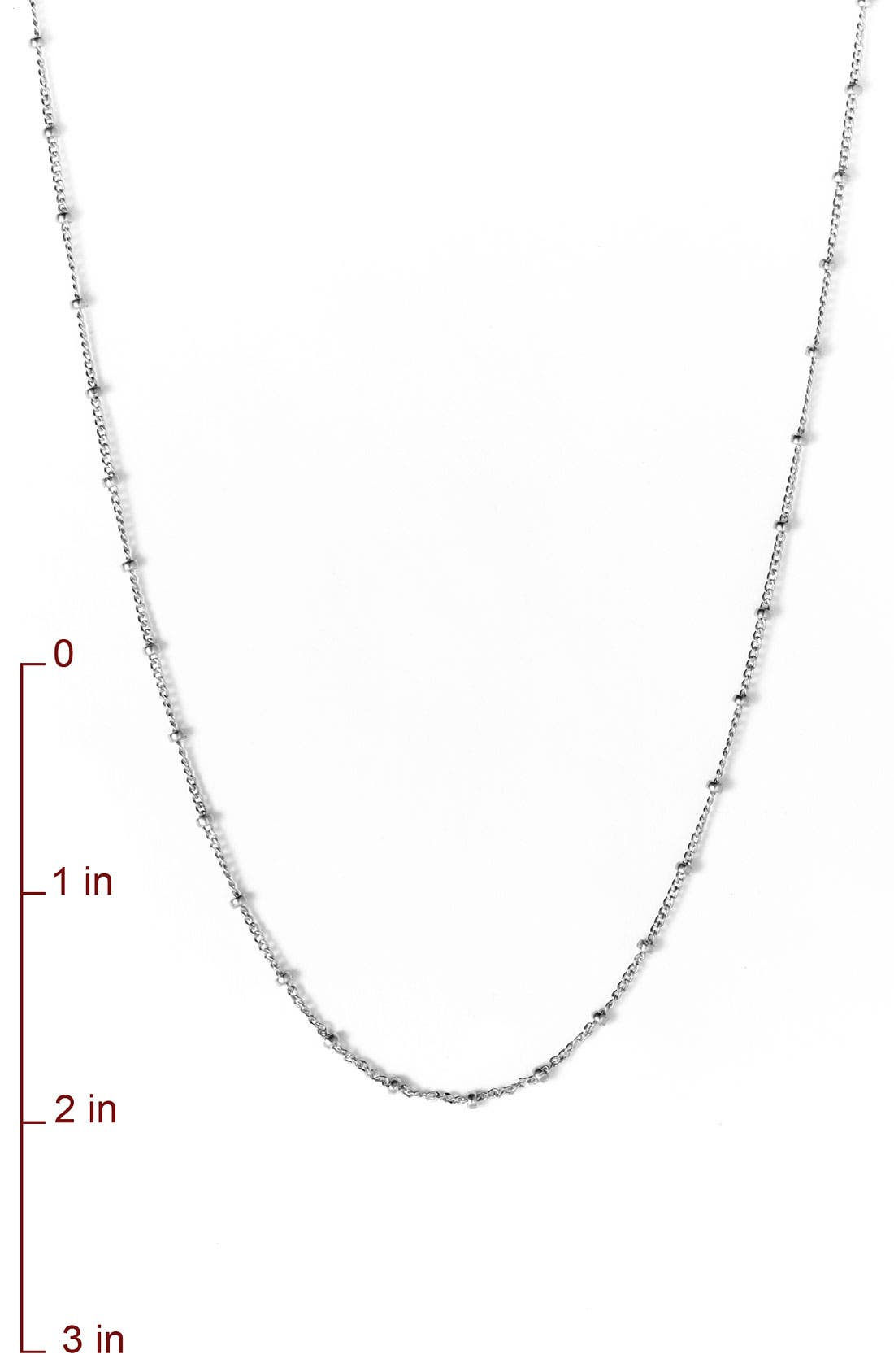 DOGEARED,                             '100 Good Wishes' Long Station Necklace,                             Alternate thumbnail 3, color,                             040