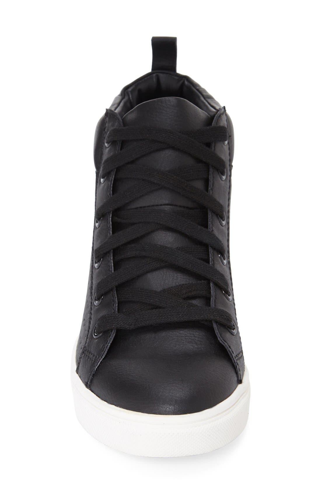 'Latte' Hidden Wedge Sneaker,                             Alternate thumbnail 4, color,                             005
