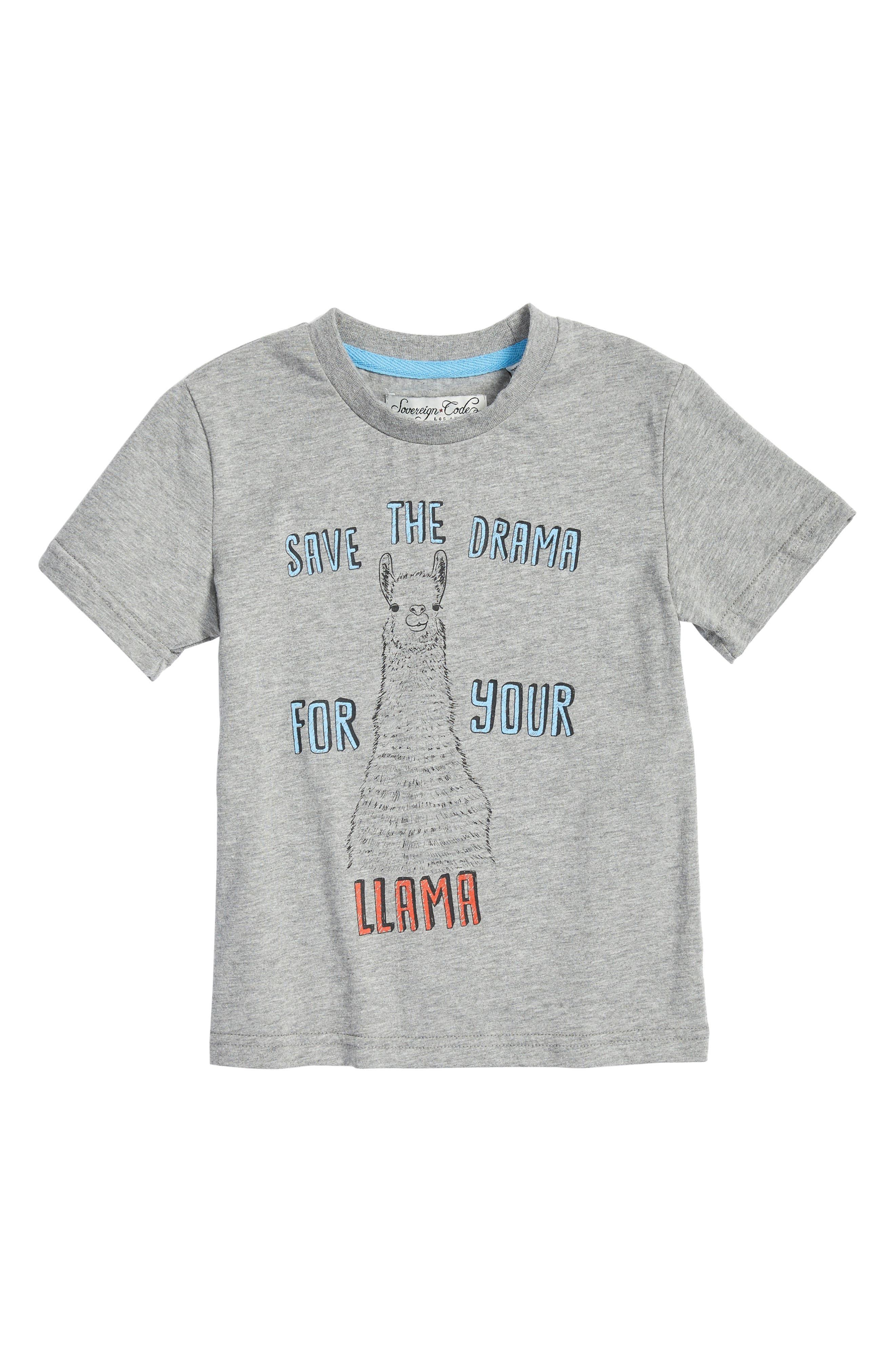 Llama Drama Graphic T-Shirt,                         Main,                         color,
