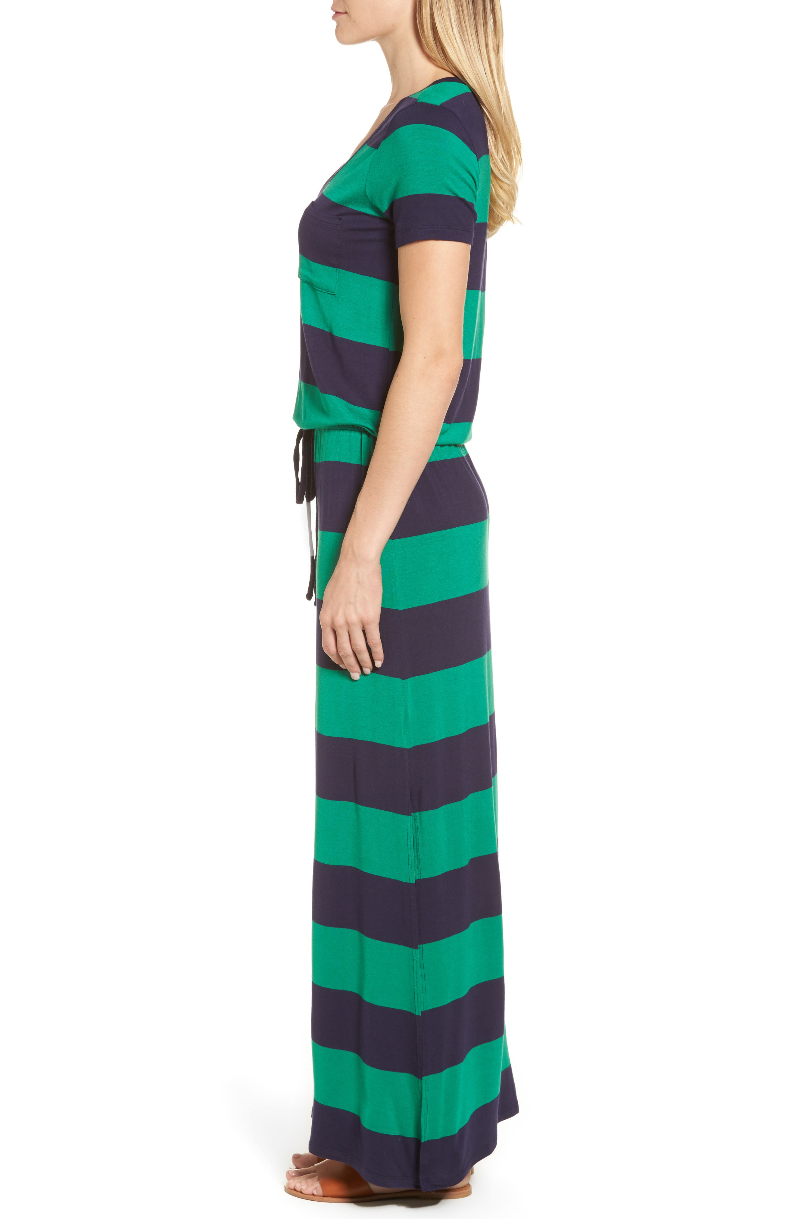 Drawstring V-Neck Jersey Maxi Dress,                             Alternate thumbnail 30, color,