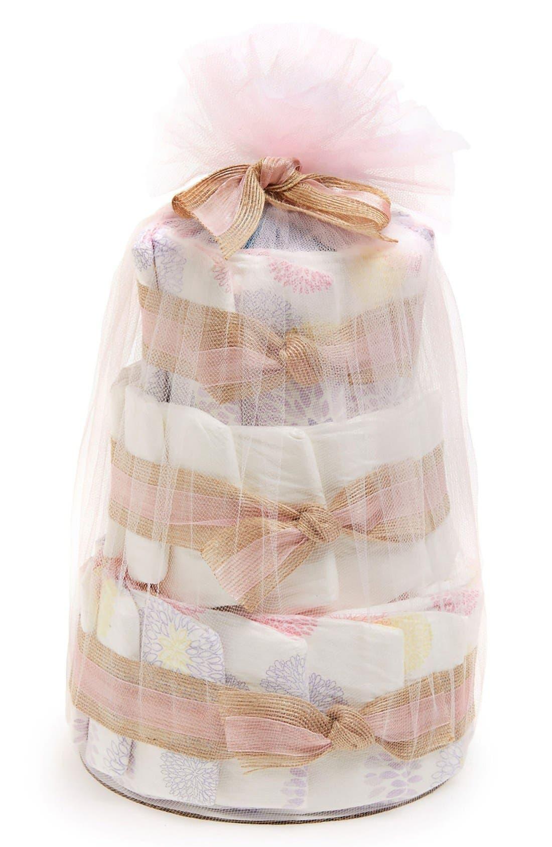 Mini Diaper Cake & Travel-Size Essentials Set,                             Main thumbnail 7, color,