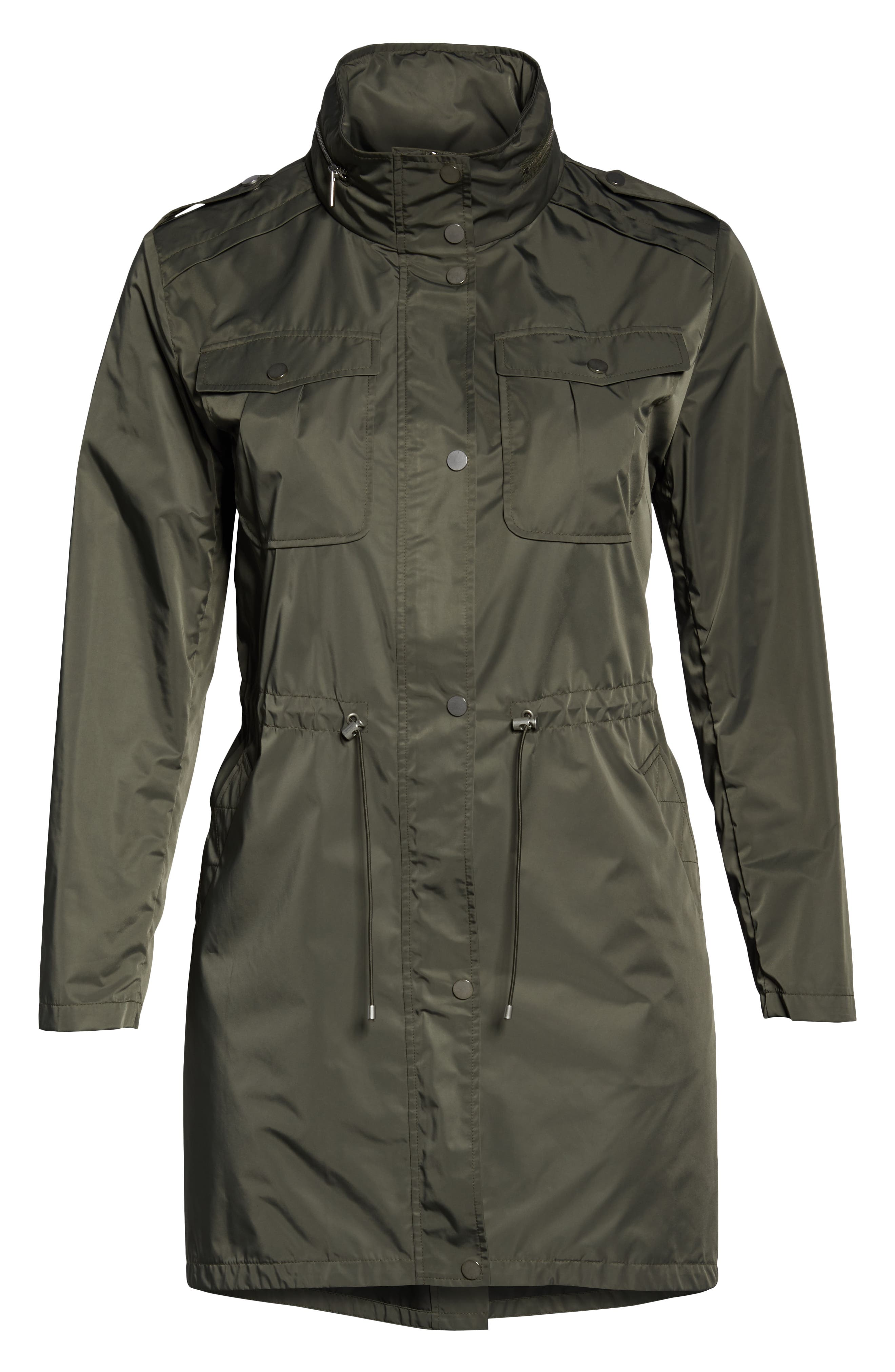 Badgley Mischka Dakota Raincoat,                             Alternate thumbnail 6, color,                             PALM