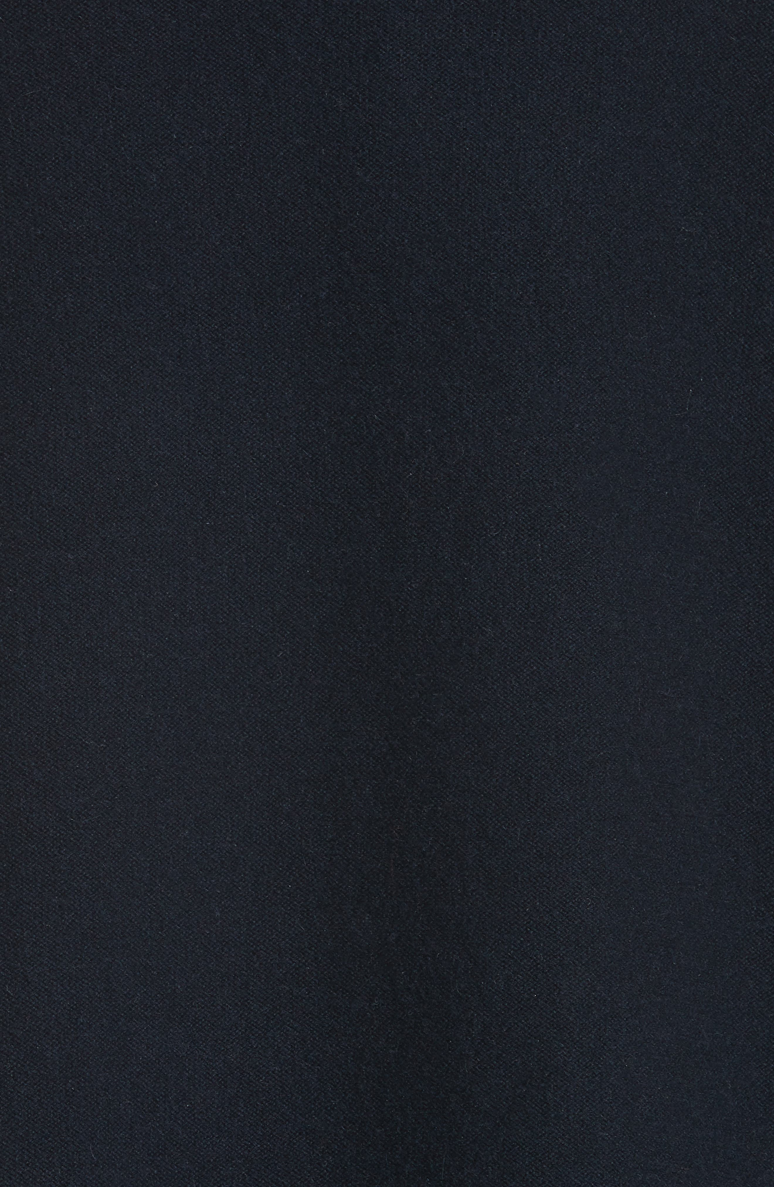 Bead Detail Cashmere Turtleneck Sweater,                             Alternate thumbnail 5, color,                             NIGHT BLUE