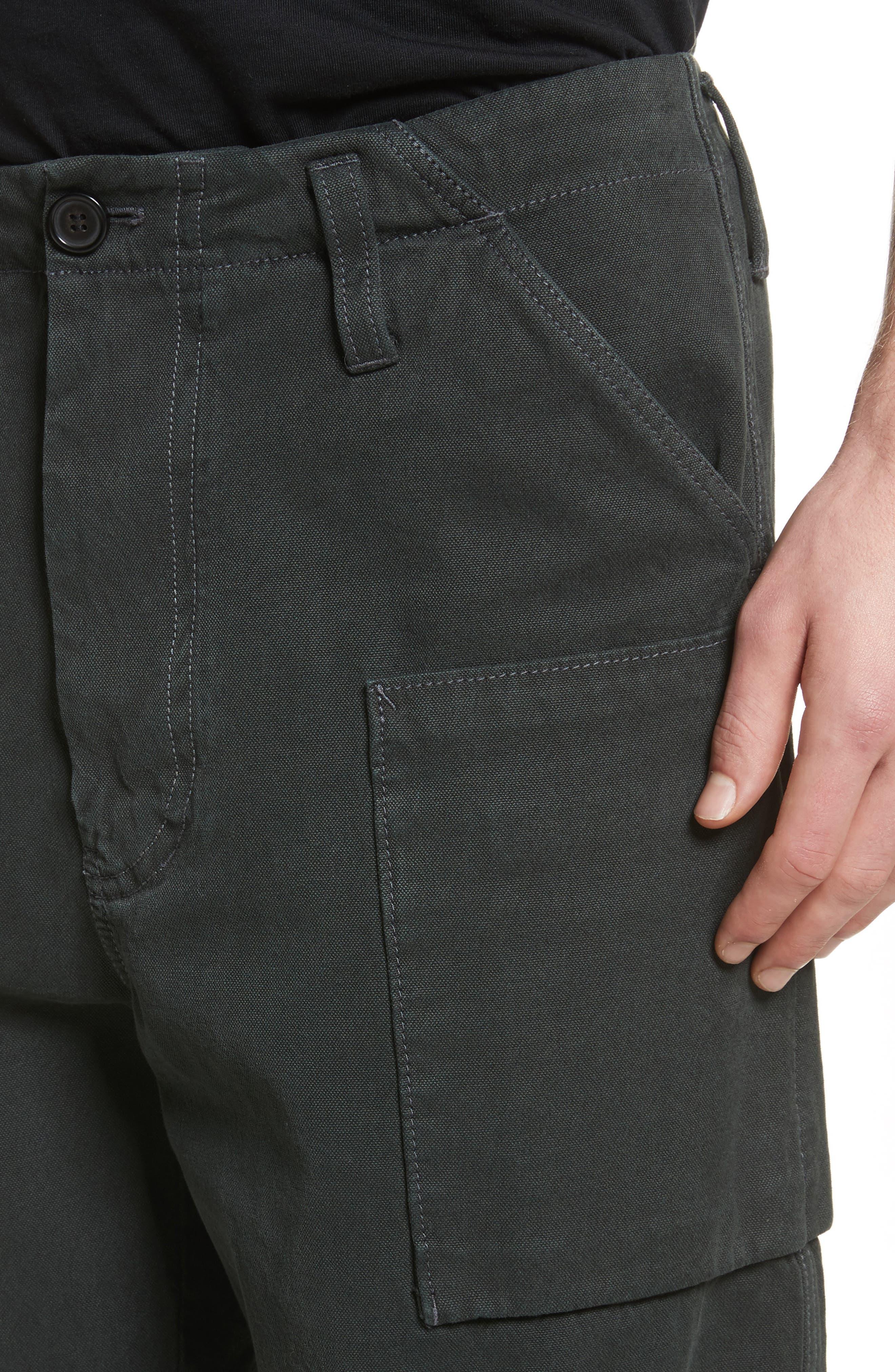 Anselm Wide Leg Patch Cargo Pants,                             Alternate thumbnail 4, color,                             010