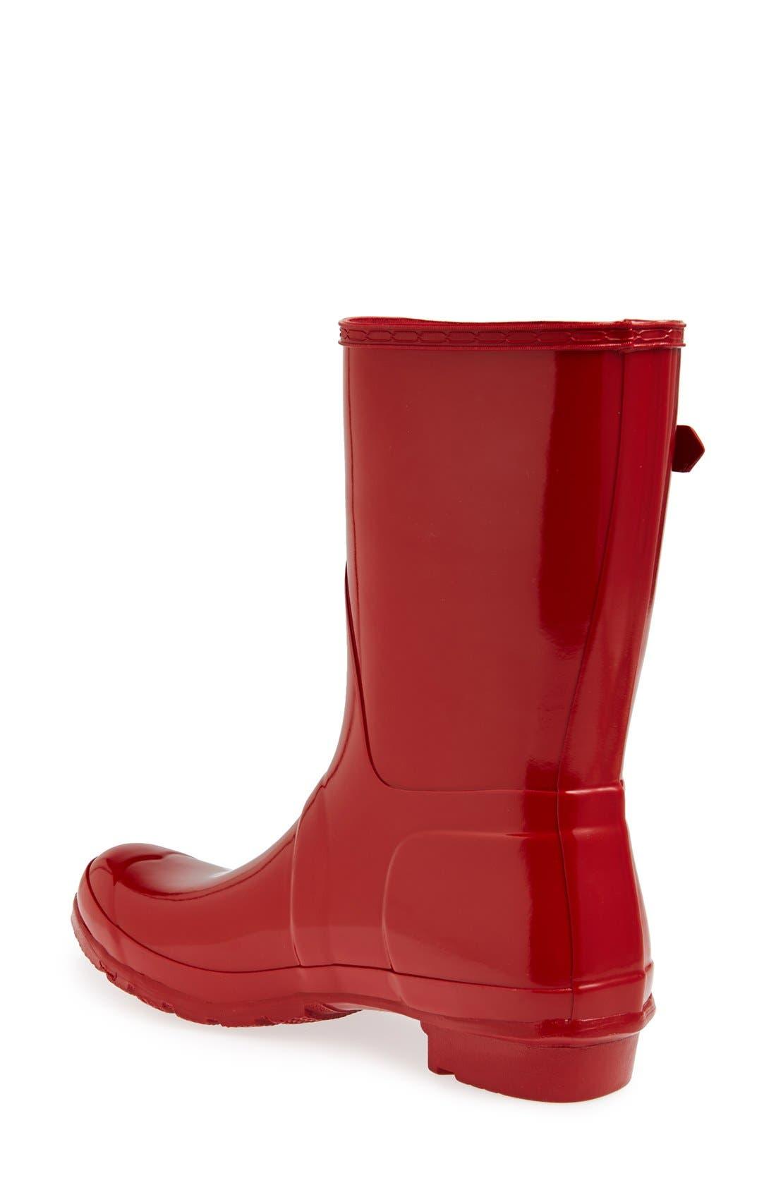 'Original Short' Gloss Rain Boot,                             Alternate thumbnail 2, color,                             625
