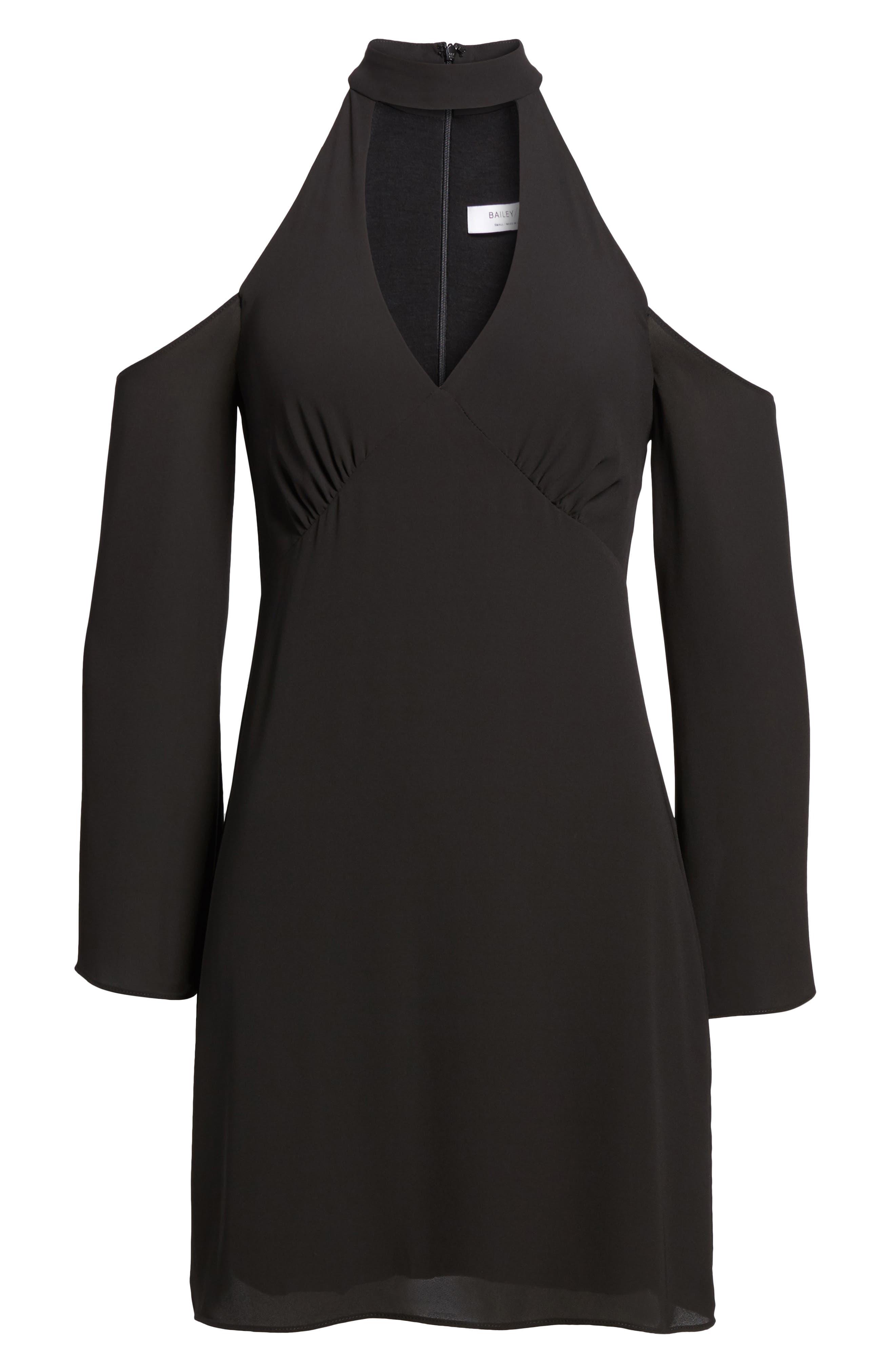 Daikon Cold Shoulder Dress,                             Alternate thumbnail 6, color,                             001