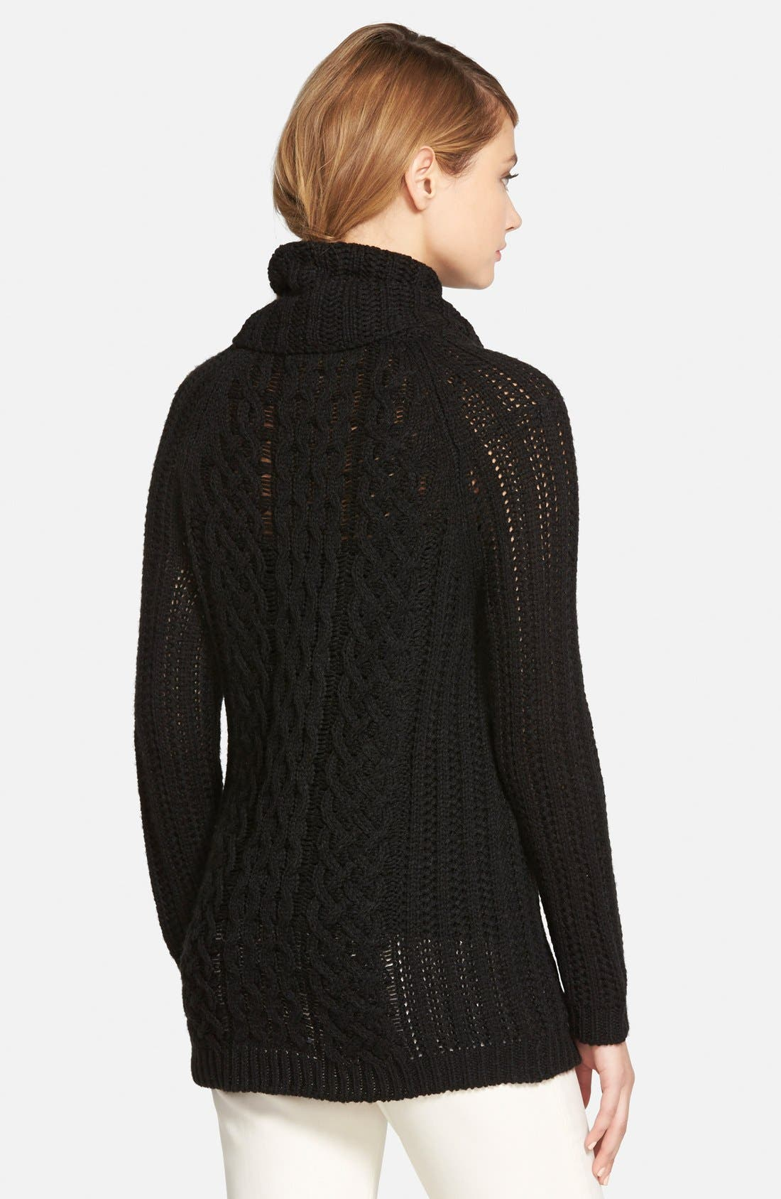 'Sleepy Hollow' Turtleneck Sweater,                             Alternate thumbnail 2, color,                             001
