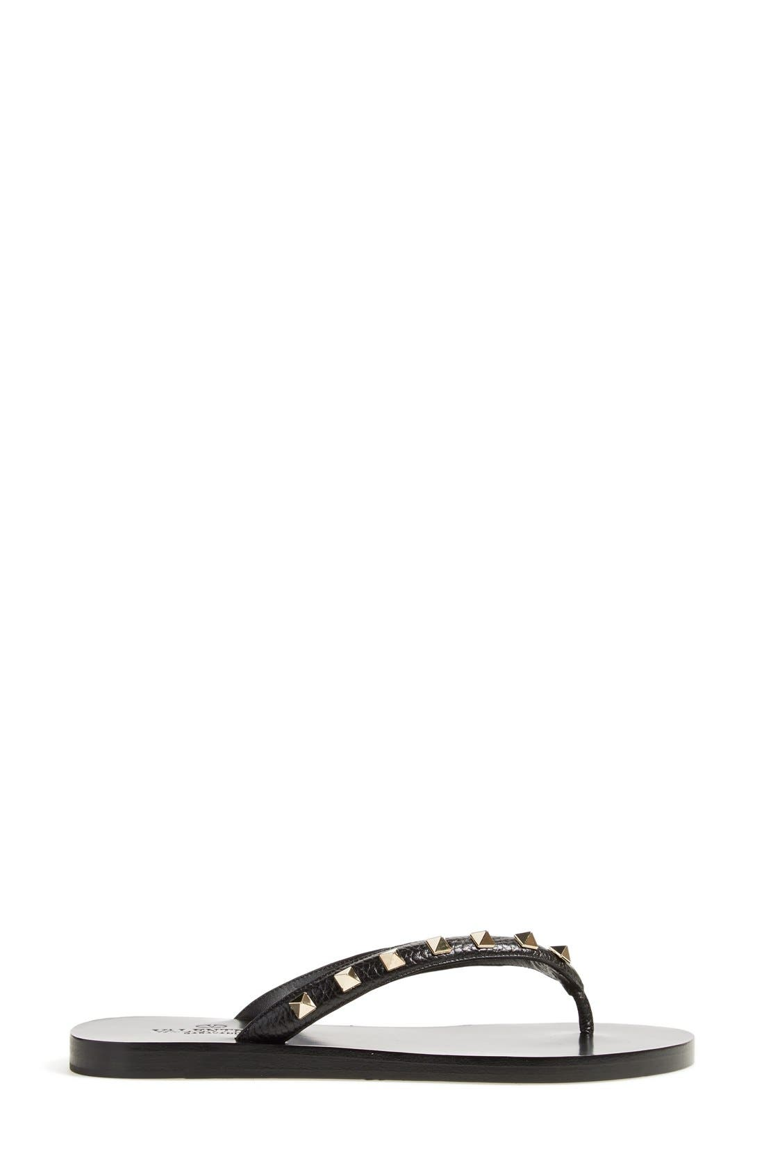 'Rockstud' Flip Flop,                             Alternate thumbnail 2, color,                             002