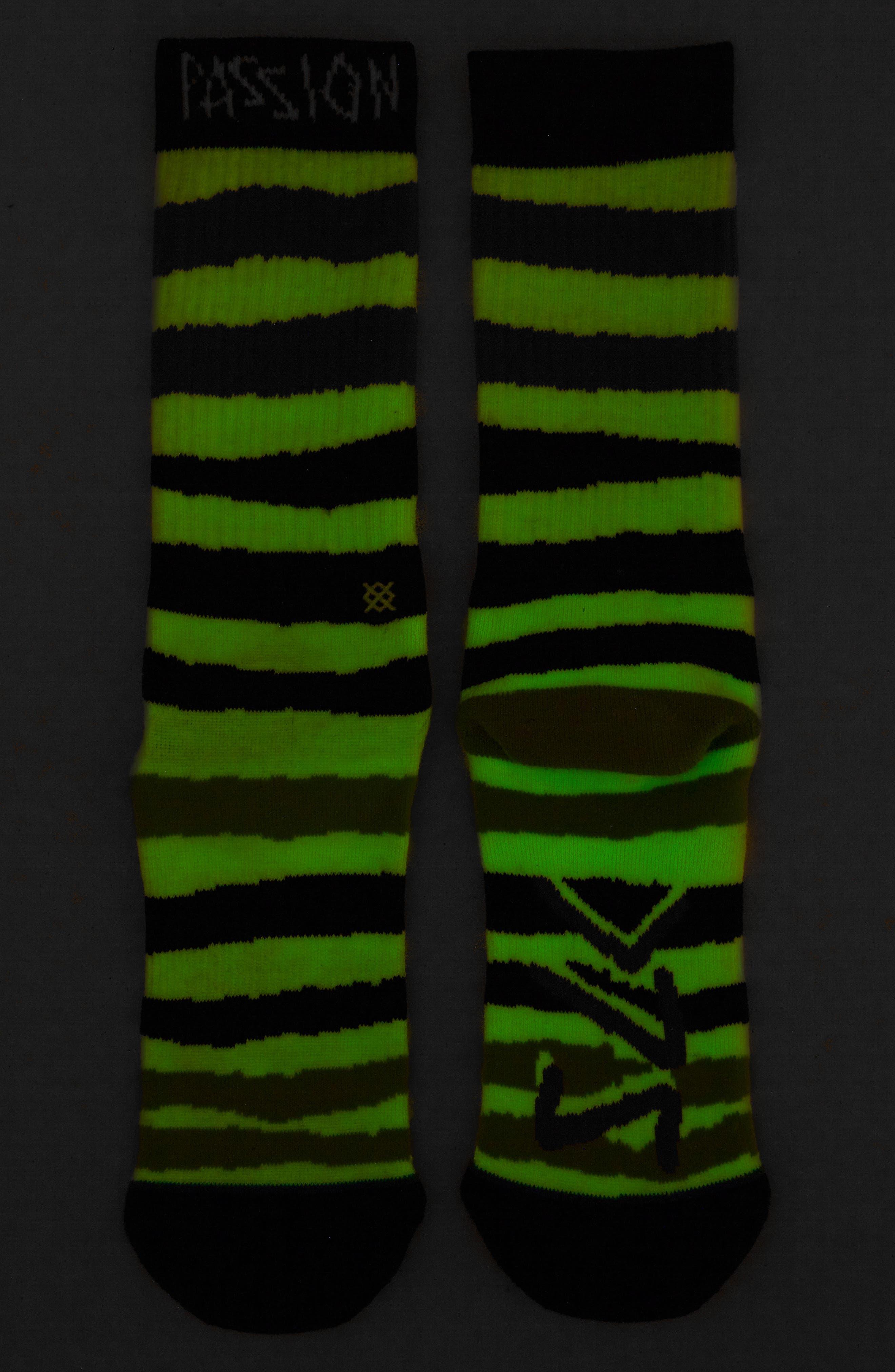 Passion LK Socks,                             Alternate thumbnail 2, color,                             BLACK
