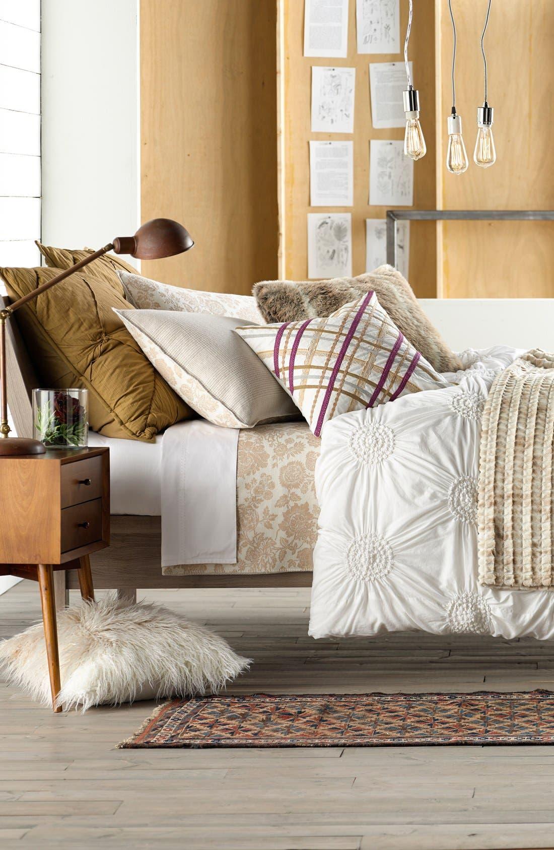 Ombré Faux Fur Flokati Accent Pillow,                             Alternate thumbnail 12, color,