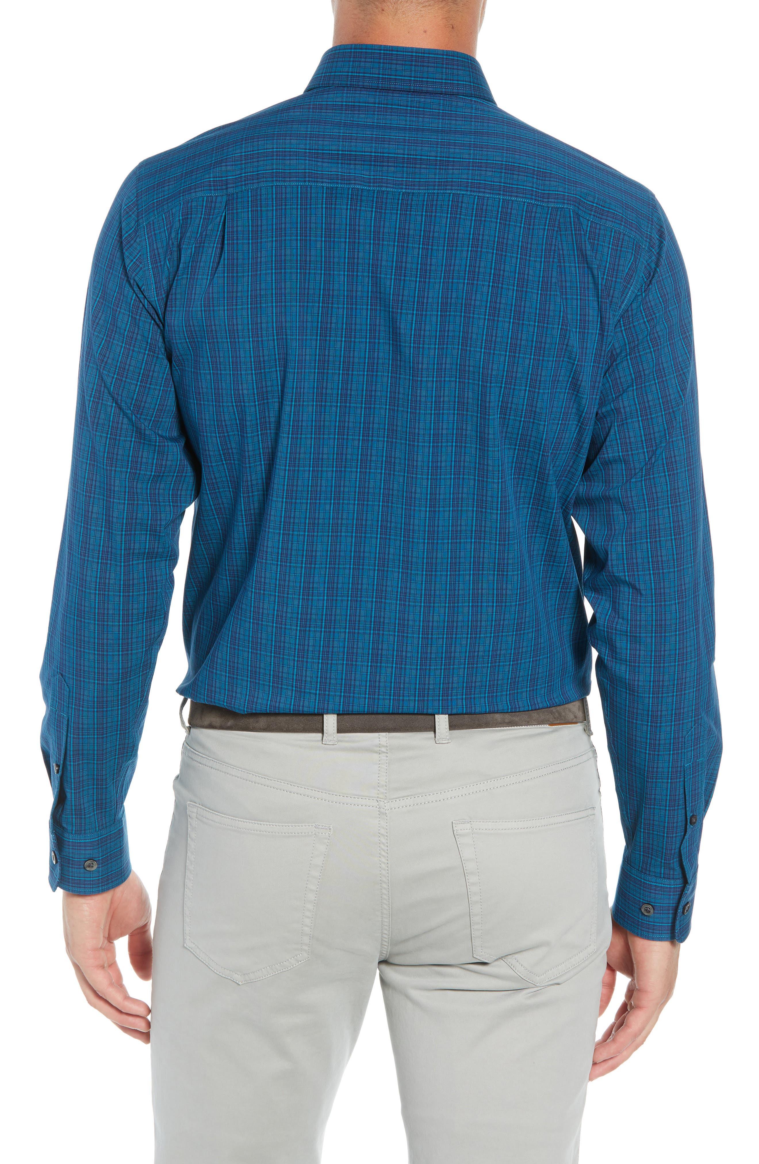 Logan Regular Fit Non-Iron Sport Shirt,                             Alternate thumbnail 3, color,                             400