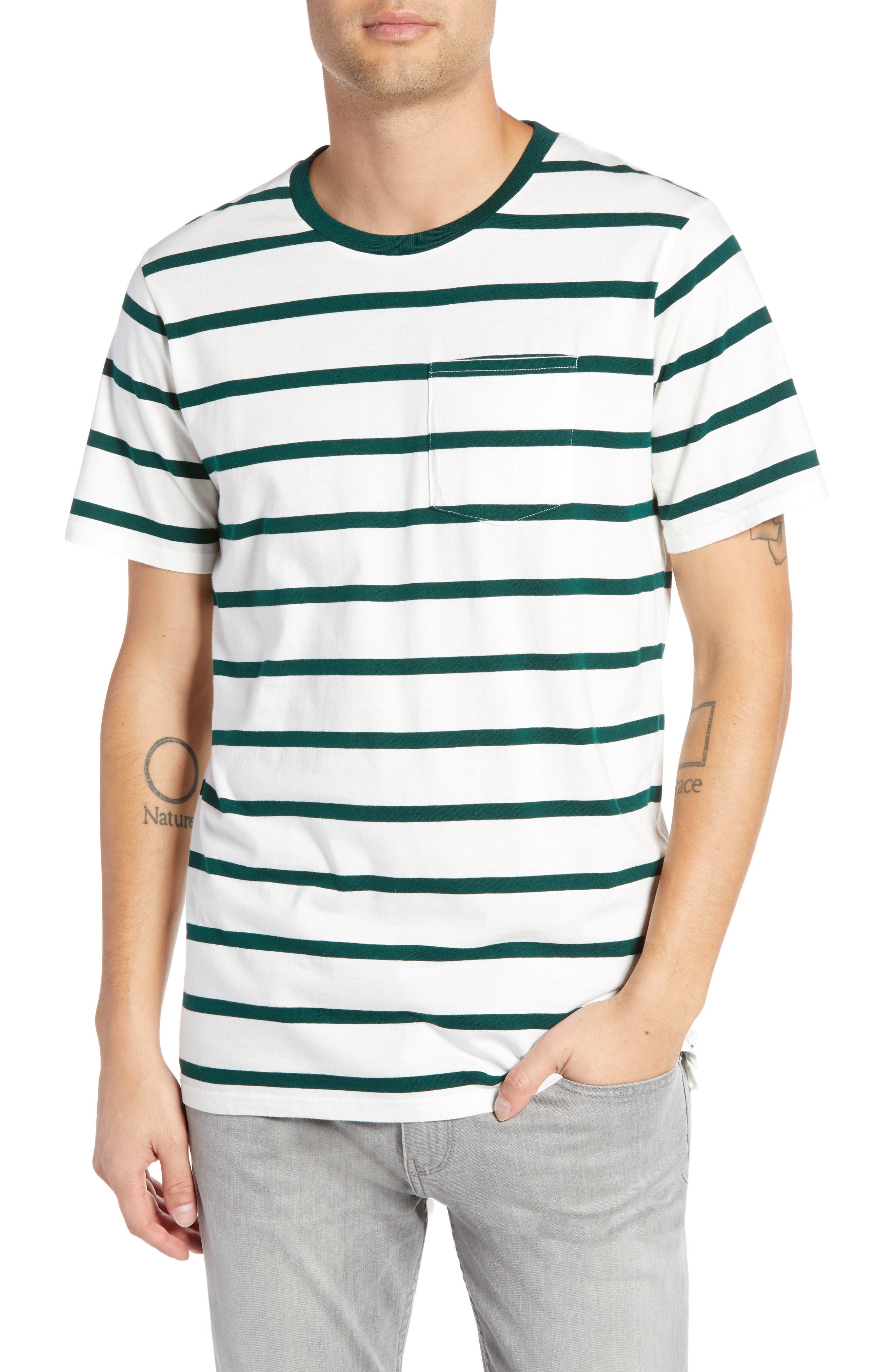 GLOBE Moonshine Pocket T-Shirt in Ecru