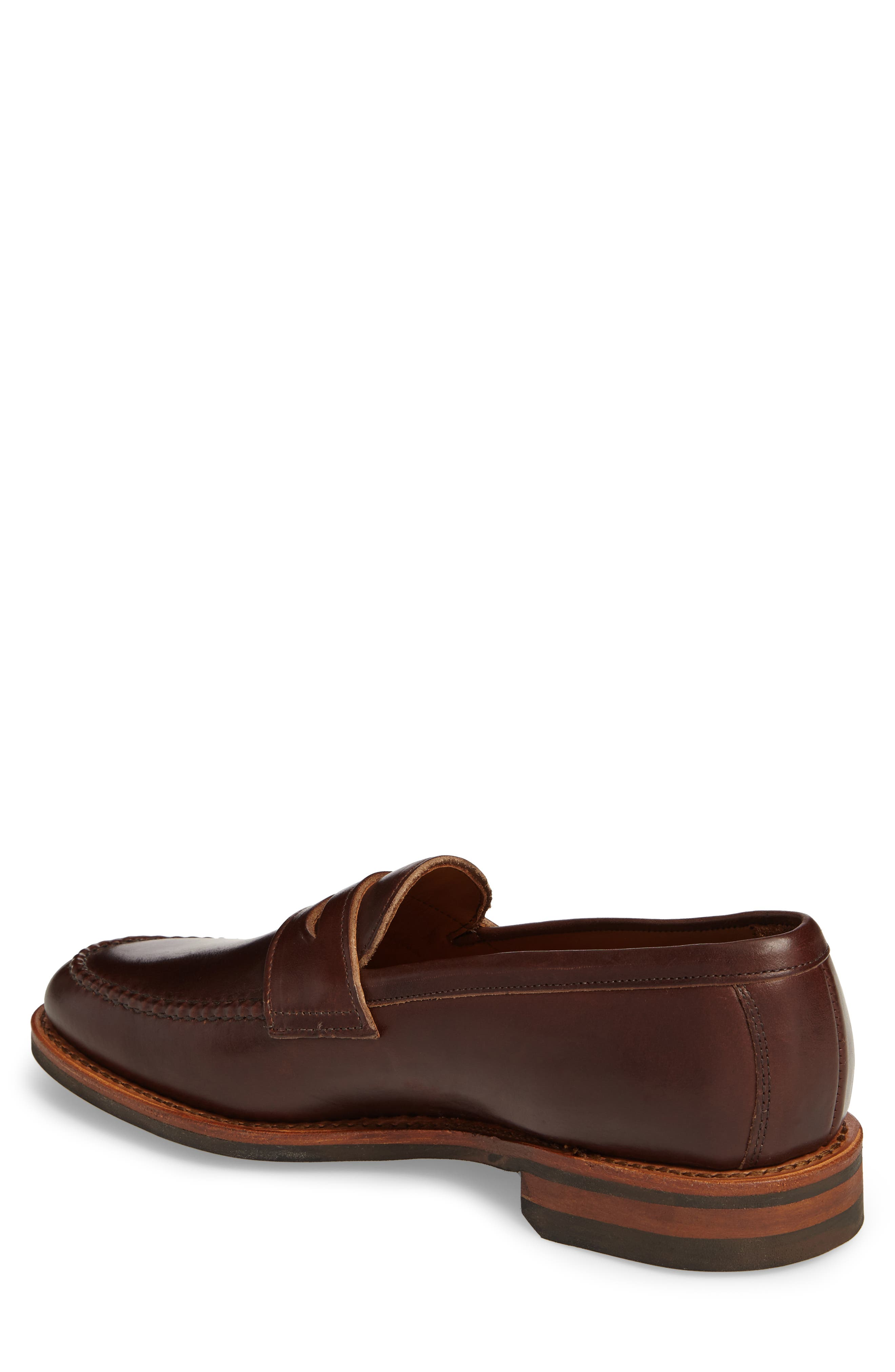 Addison Penny Loafer,                             Alternate thumbnail 2, color,                             BROWN LEATHER