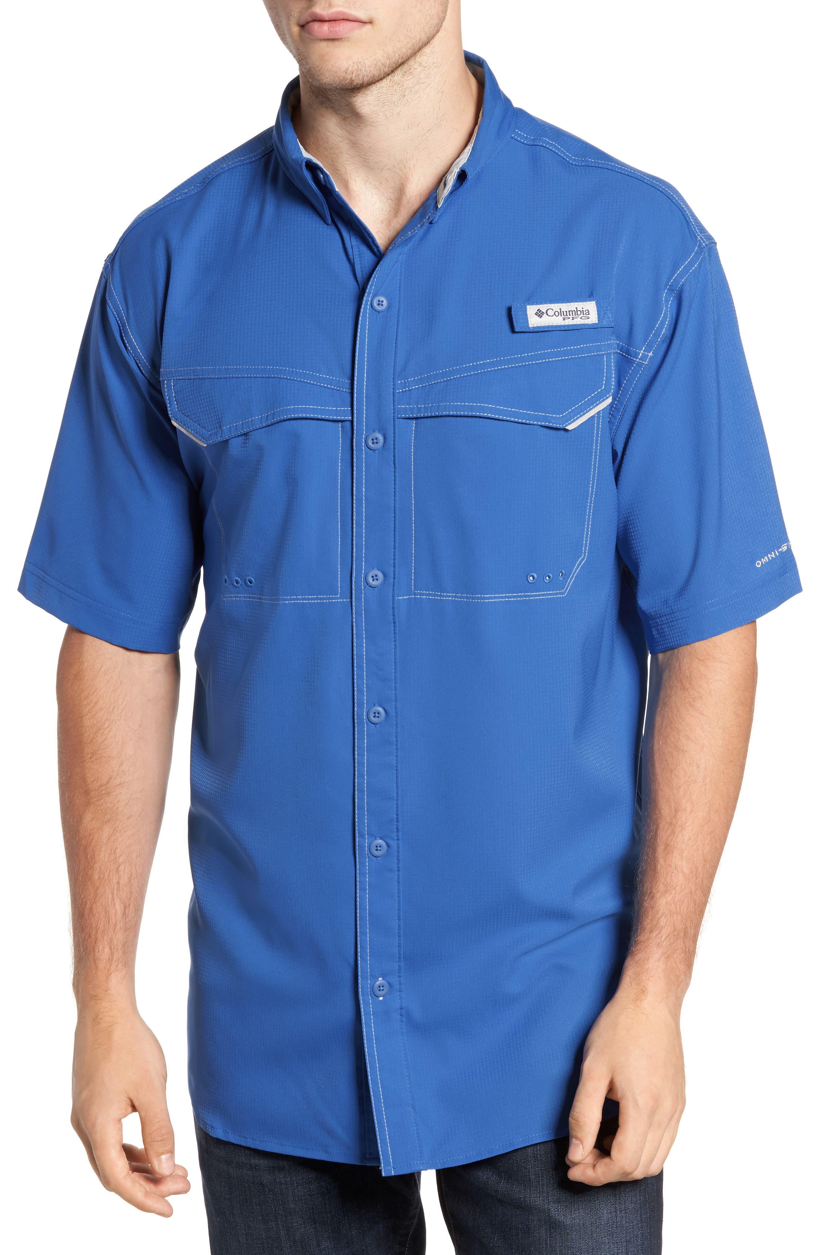 PFG Low Drag Offshore Woven Shirt,                             Main thumbnail 3, color,