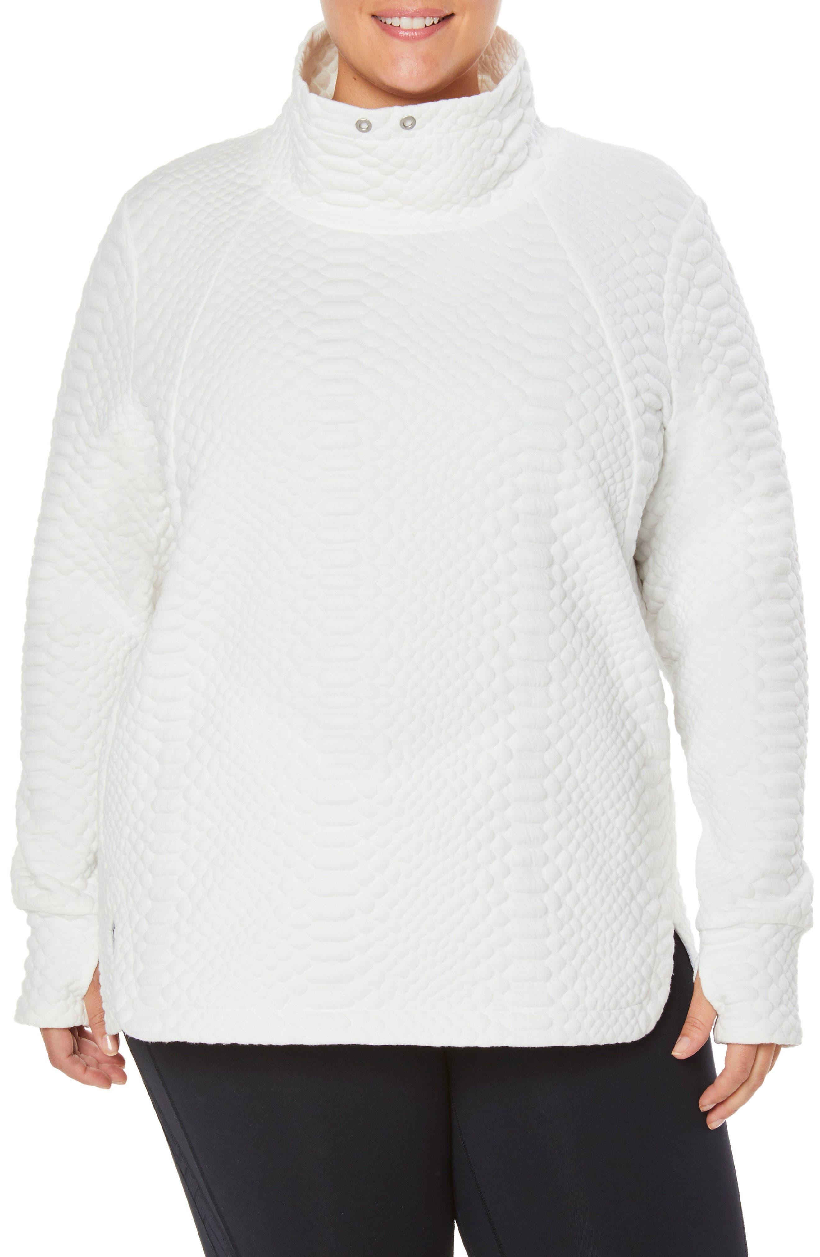 Saturday Mock Neck Pullover,                         Main,                         color, WINTER WHITE