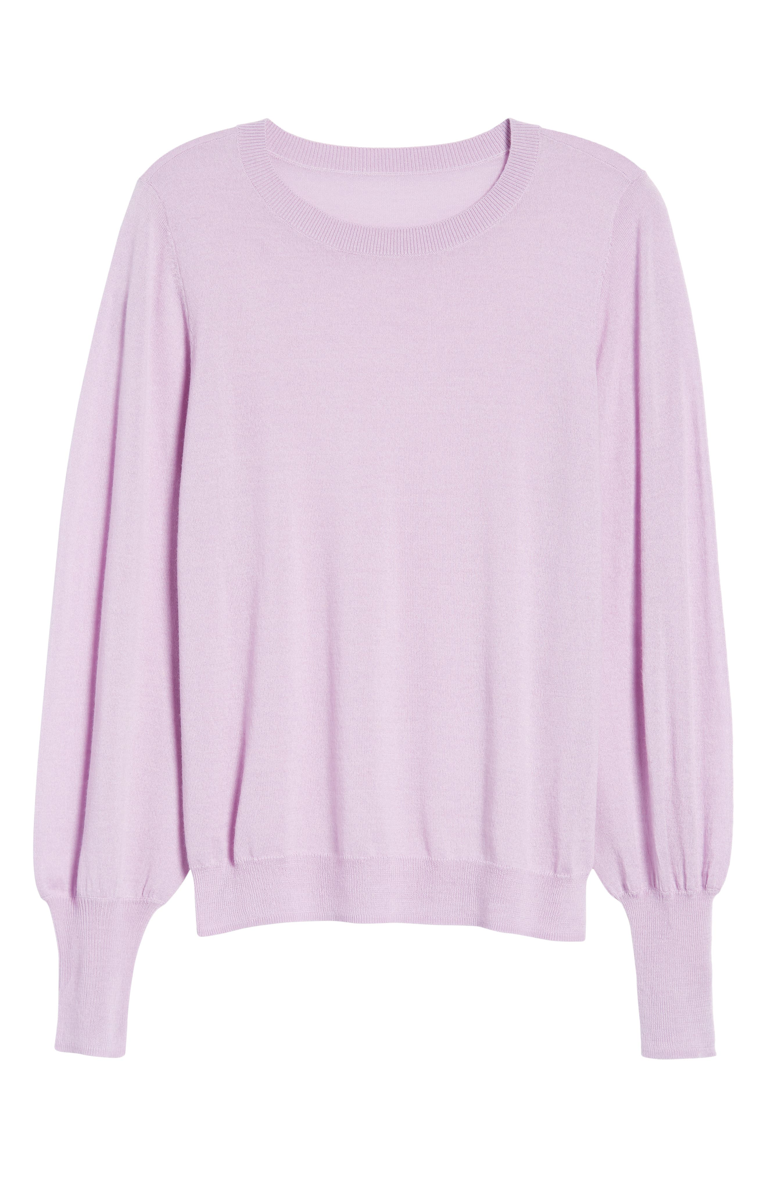 Puff Sleeve Sweater,                             Alternate thumbnail 58, color,