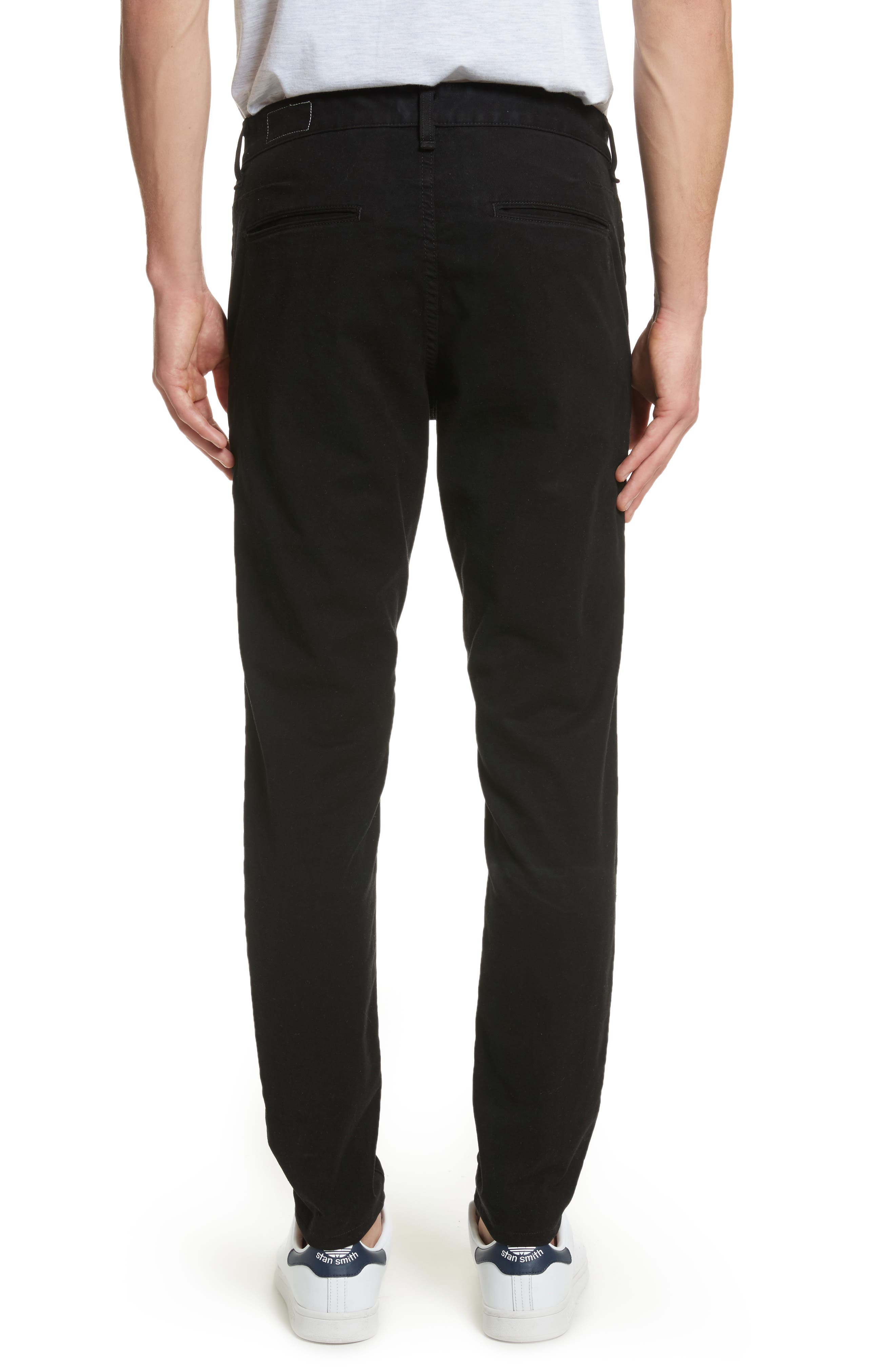 Fit 1 Chinos,                             Alternate thumbnail 2, color,                             BLACK