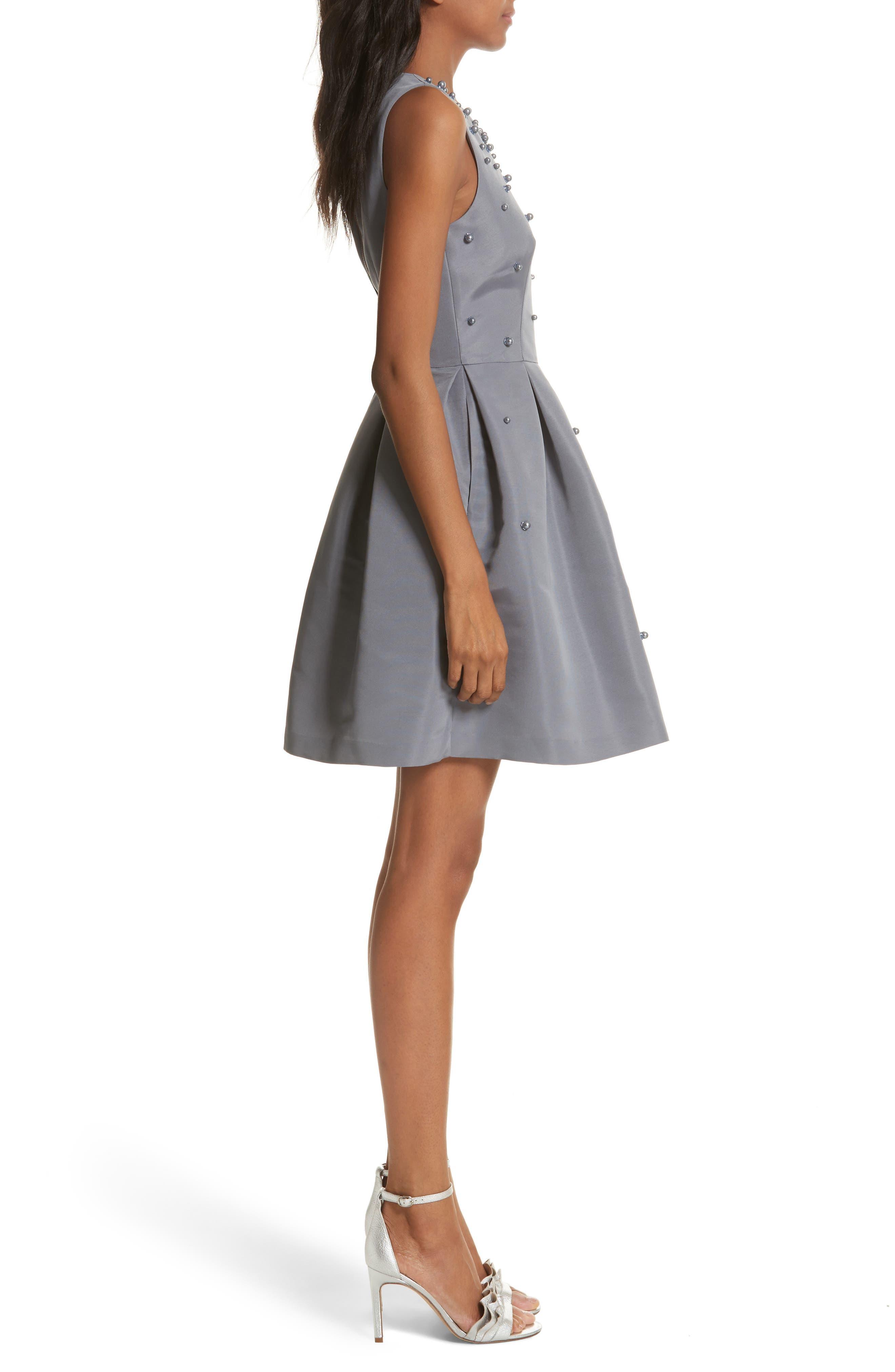 Embellished Skater Dress,                             Alternate thumbnail 7, color,
