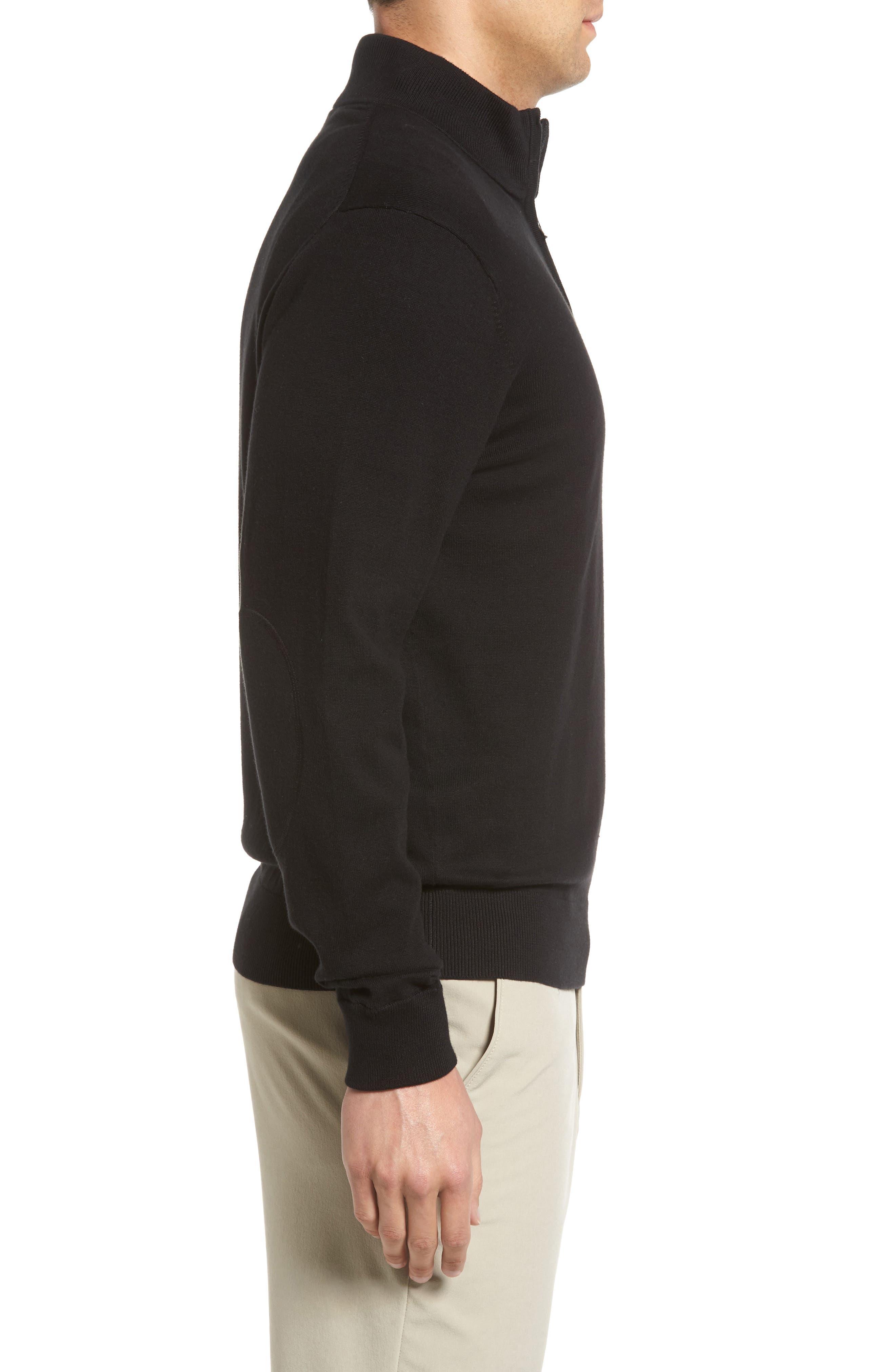 Lakemont Half Zip Sweater,                             Alternate thumbnail 3, color,                             BLACK