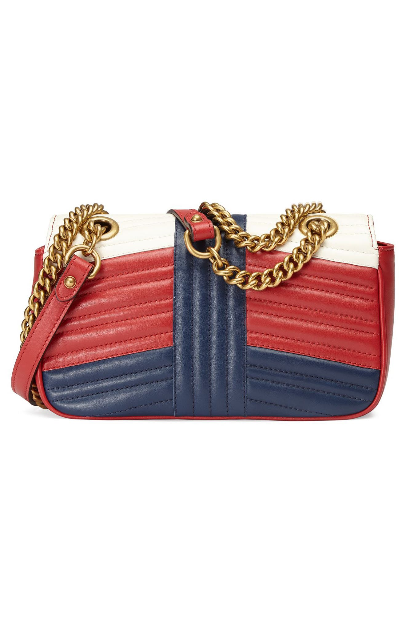 Mini GG Marmont 2.0 Tricolor Matelassé Leather Shoulder Bag,                             Alternate thumbnail 2, color,                             625
