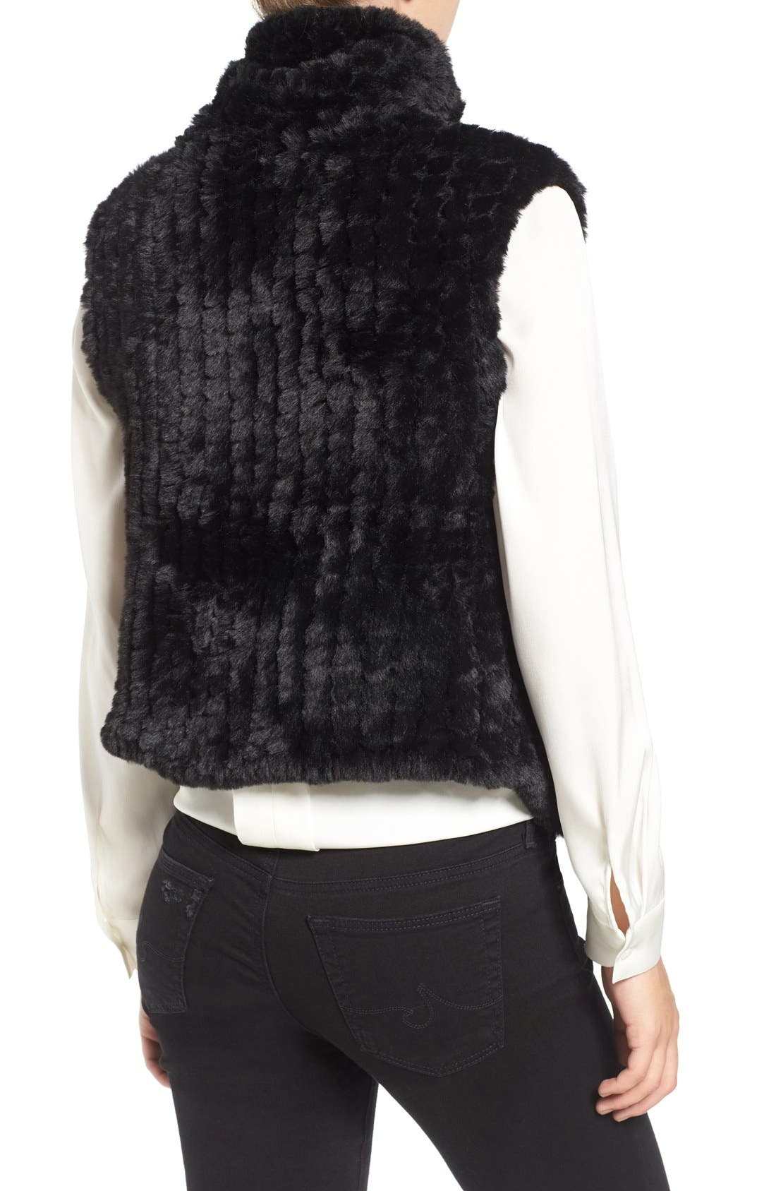 Faux Fur Vest,                             Alternate thumbnail 5, color,