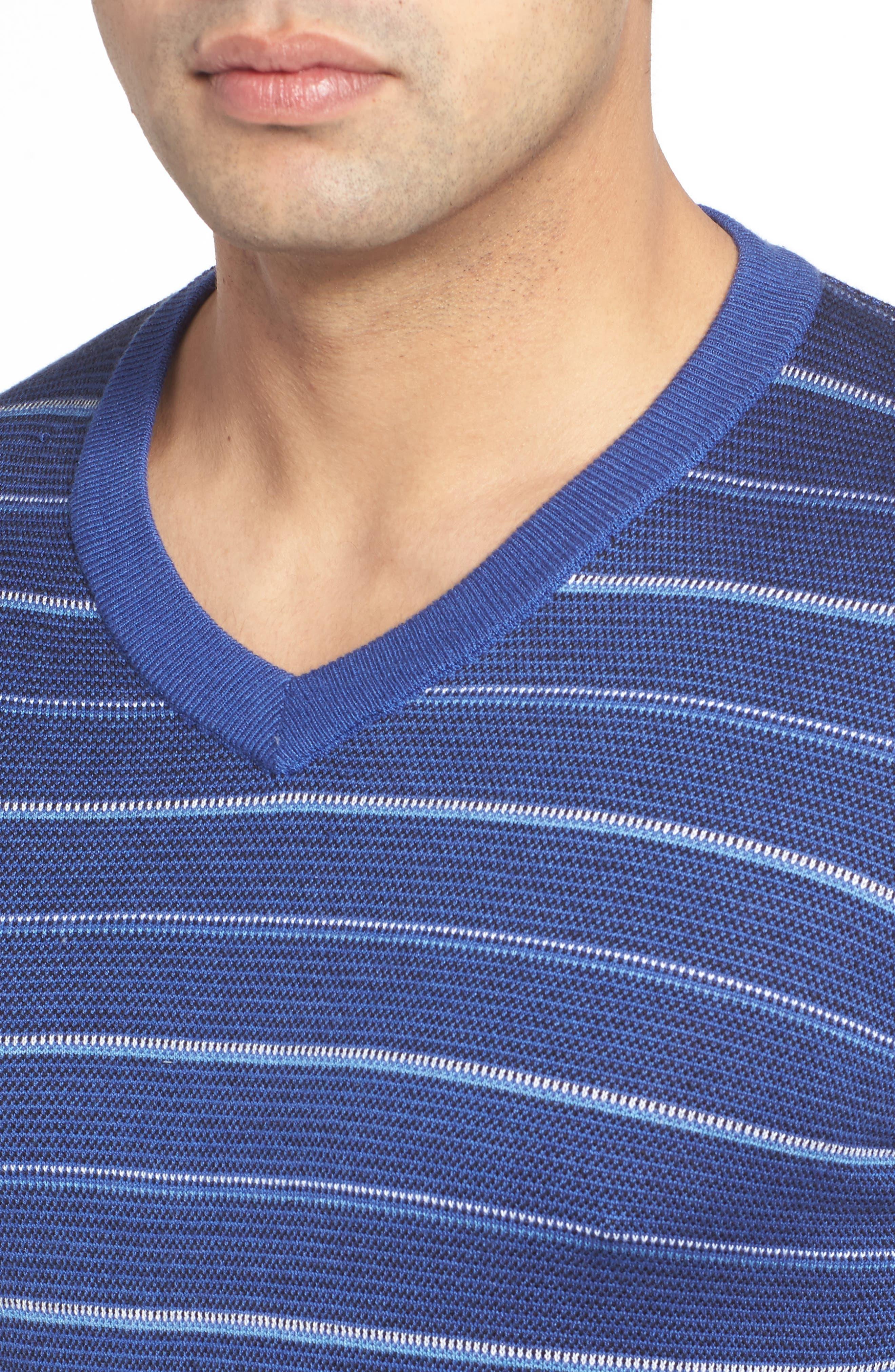 Stripe Silk Blend Sweater,                             Alternate thumbnail 4, color,                             411