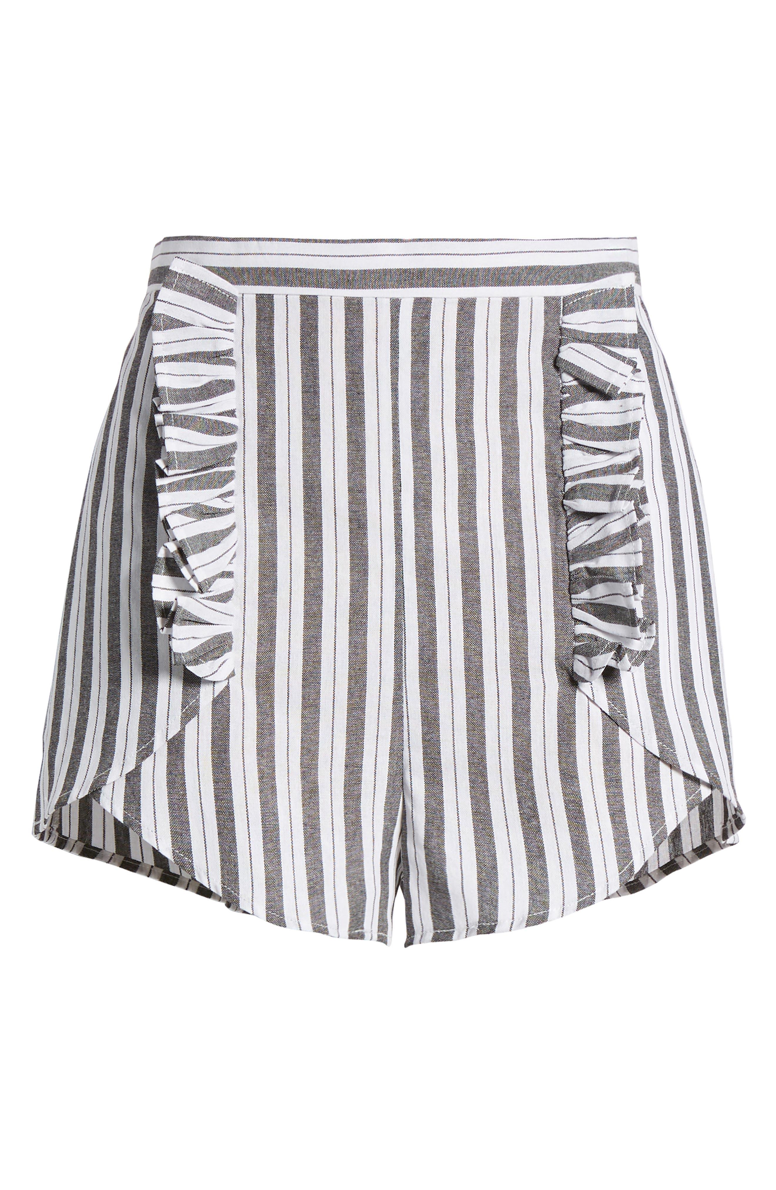 Acacia Stripe High Waist Shorts,                             Alternate thumbnail 6, color,