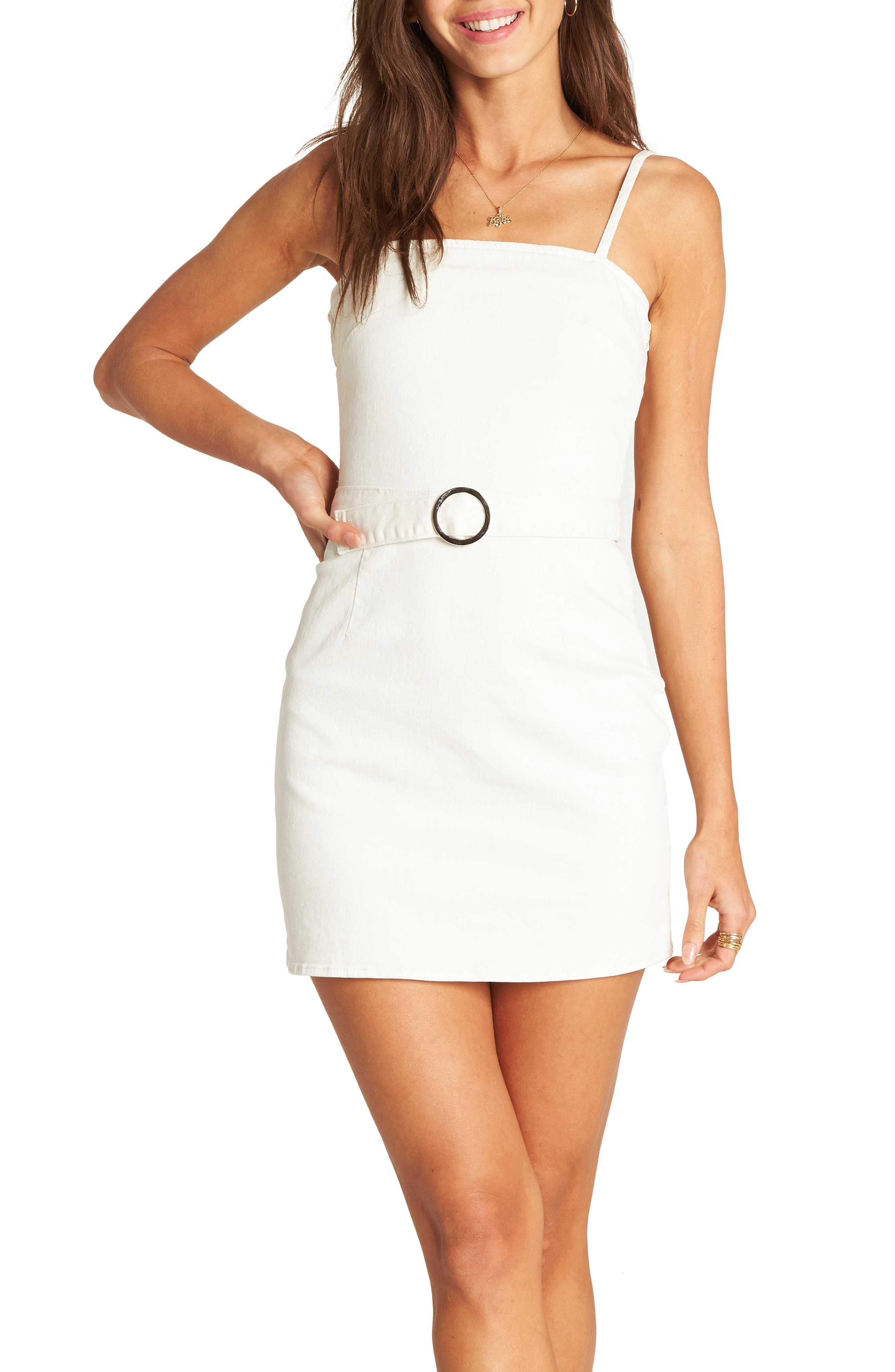 Billabong So Good Belted Minidress, Ivory