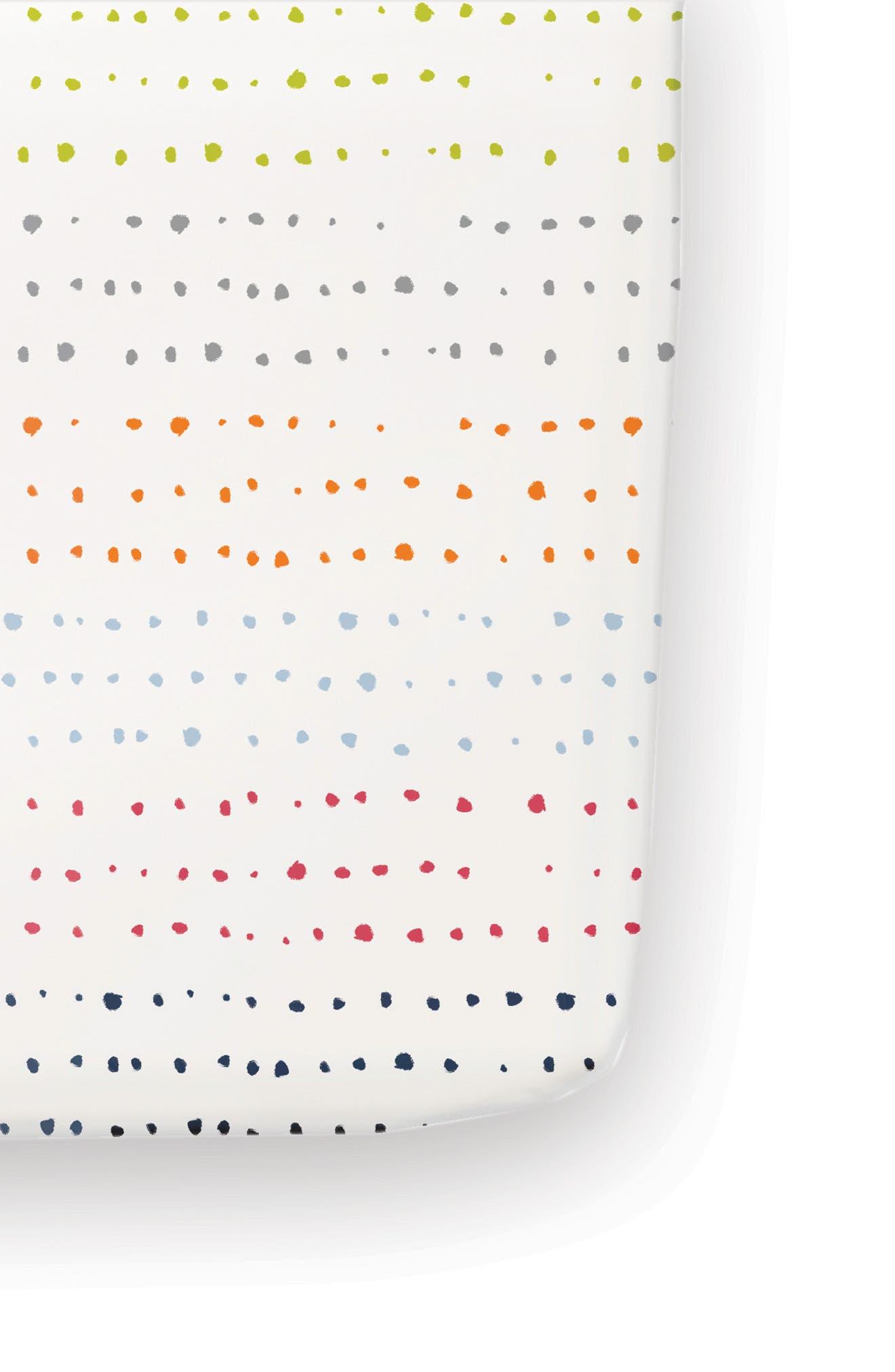 'Painted Dots' Cotton Crib Sheet,                             Main thumbnail 1, color,                             100