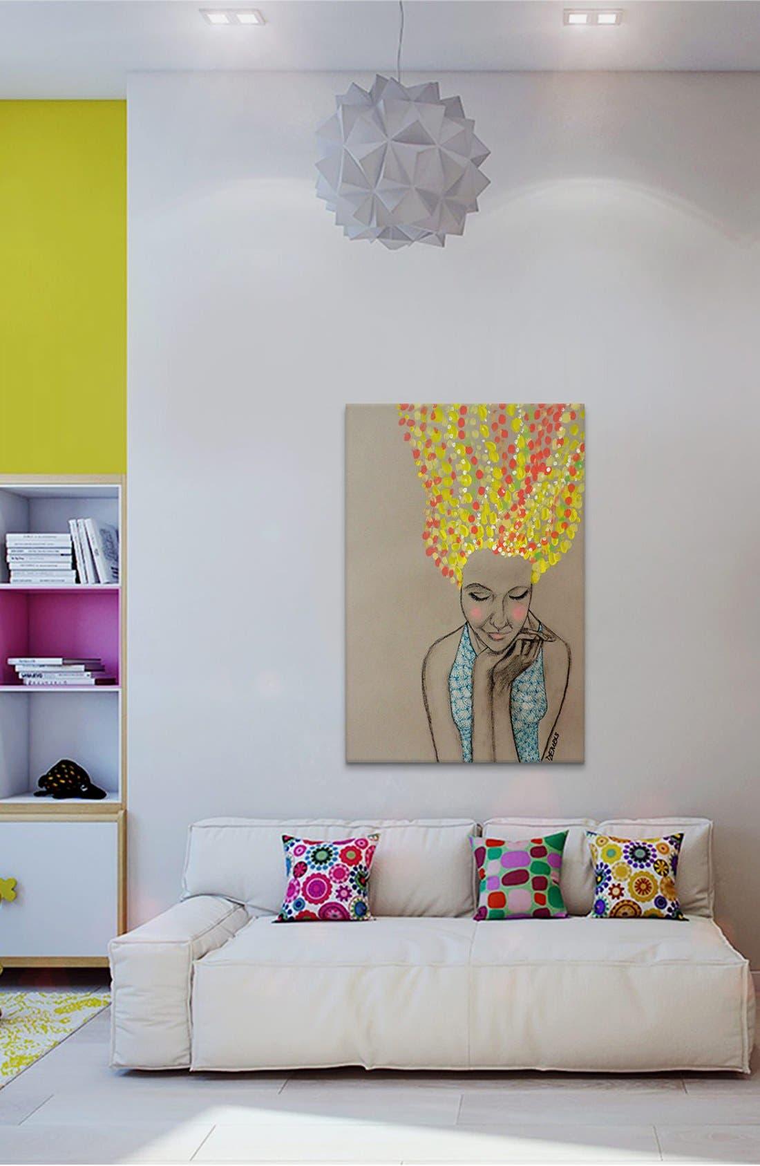 'Miss Sunshine - Sylvie Demers' Giclée Print Canvas Art,                             Alternate thumbnail 2, color,
