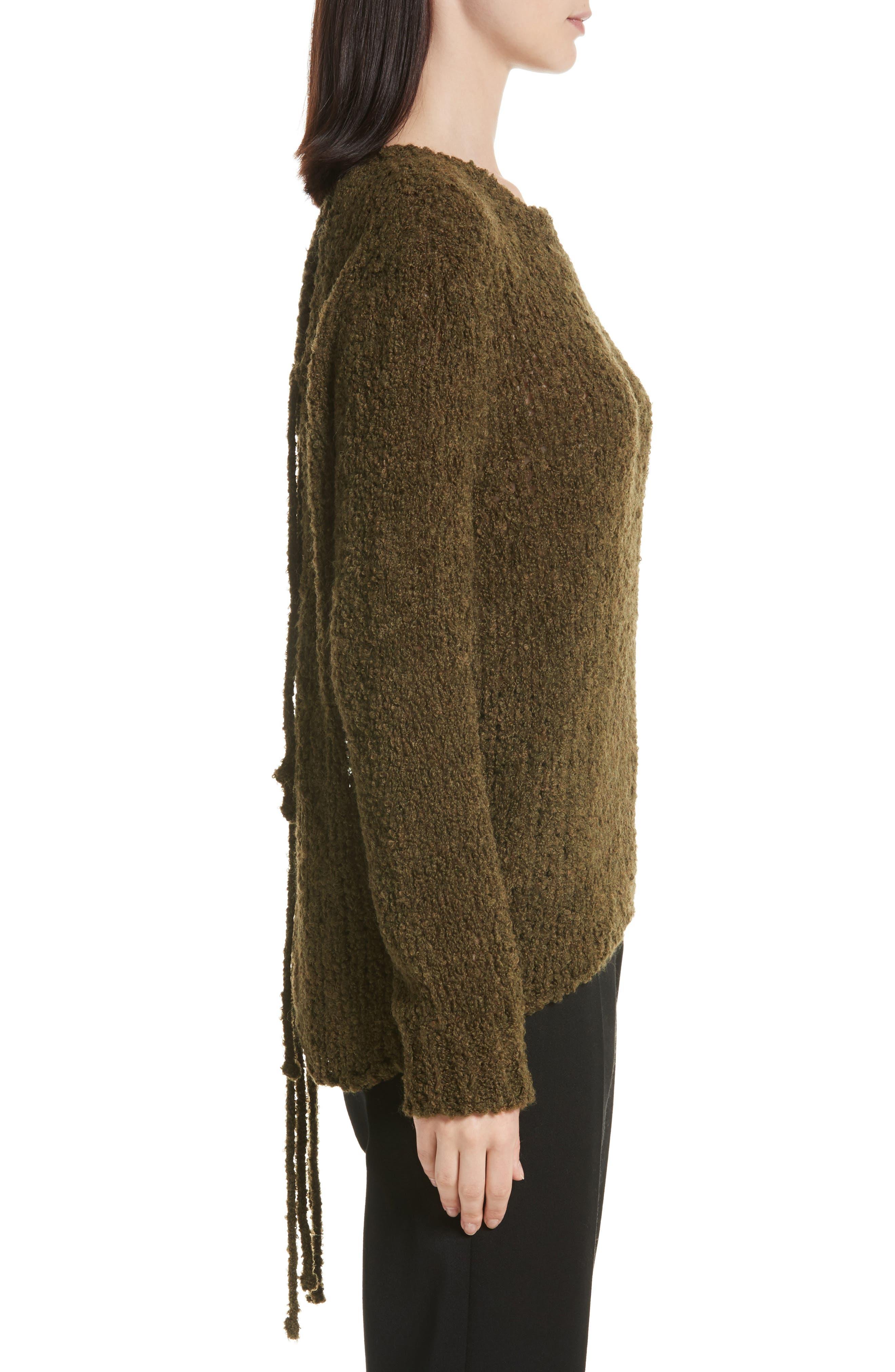 Cresent Cutout Sweater,                             Alternate thumbnail 3, color,                             300