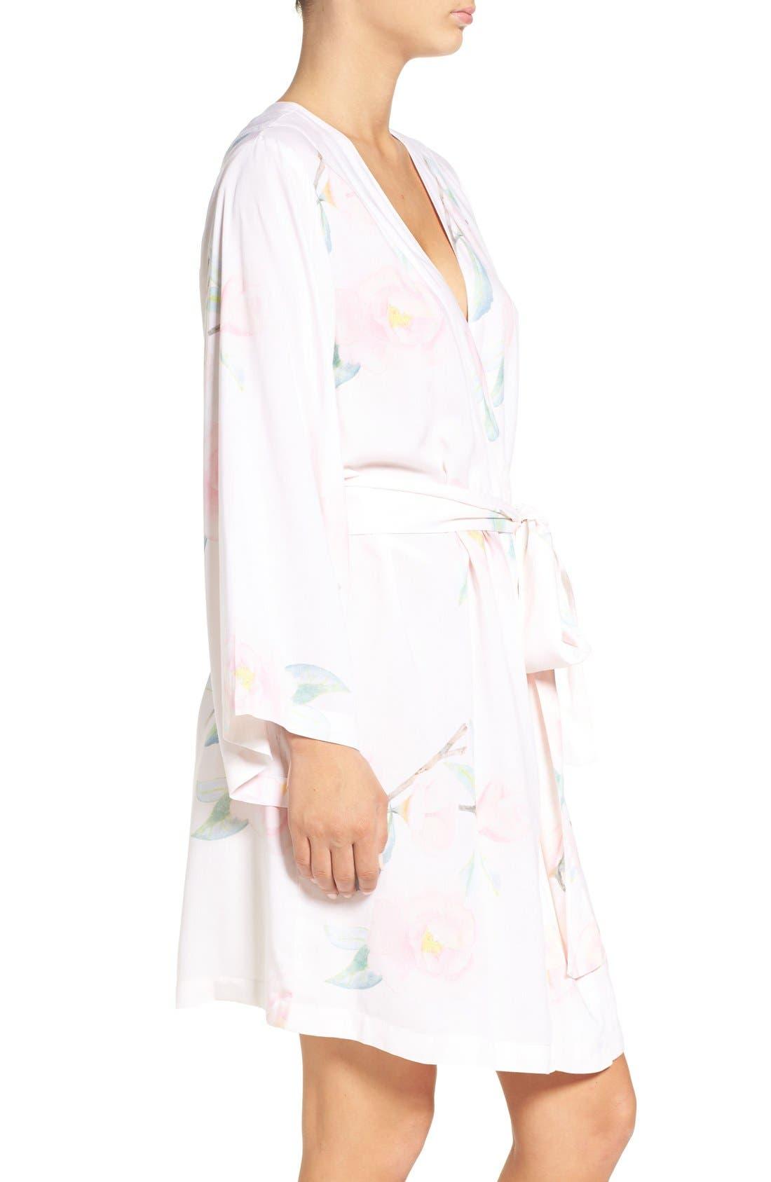 Oracle Floral Print Kimono Robe,                             Alternate thumbnail 3, color,                             650