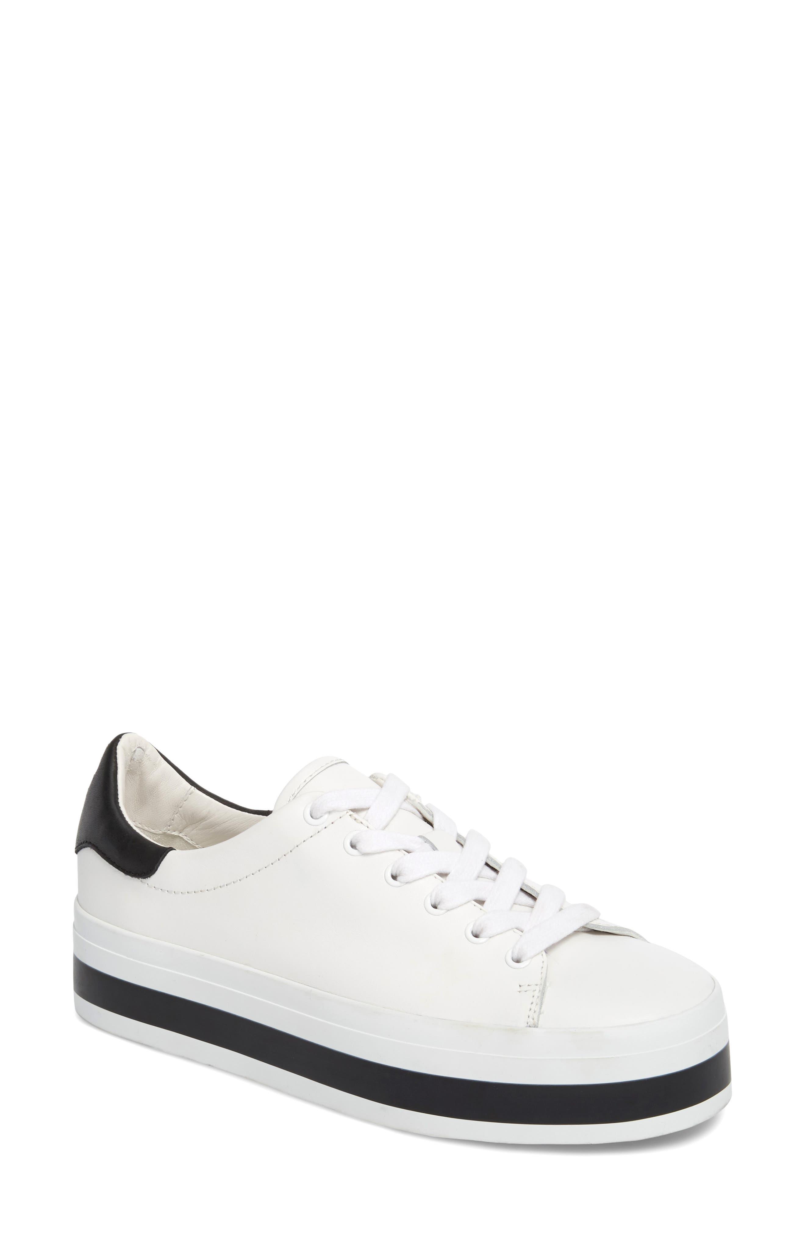 Alice + Olivia Ezra Flatform Sneaker, White